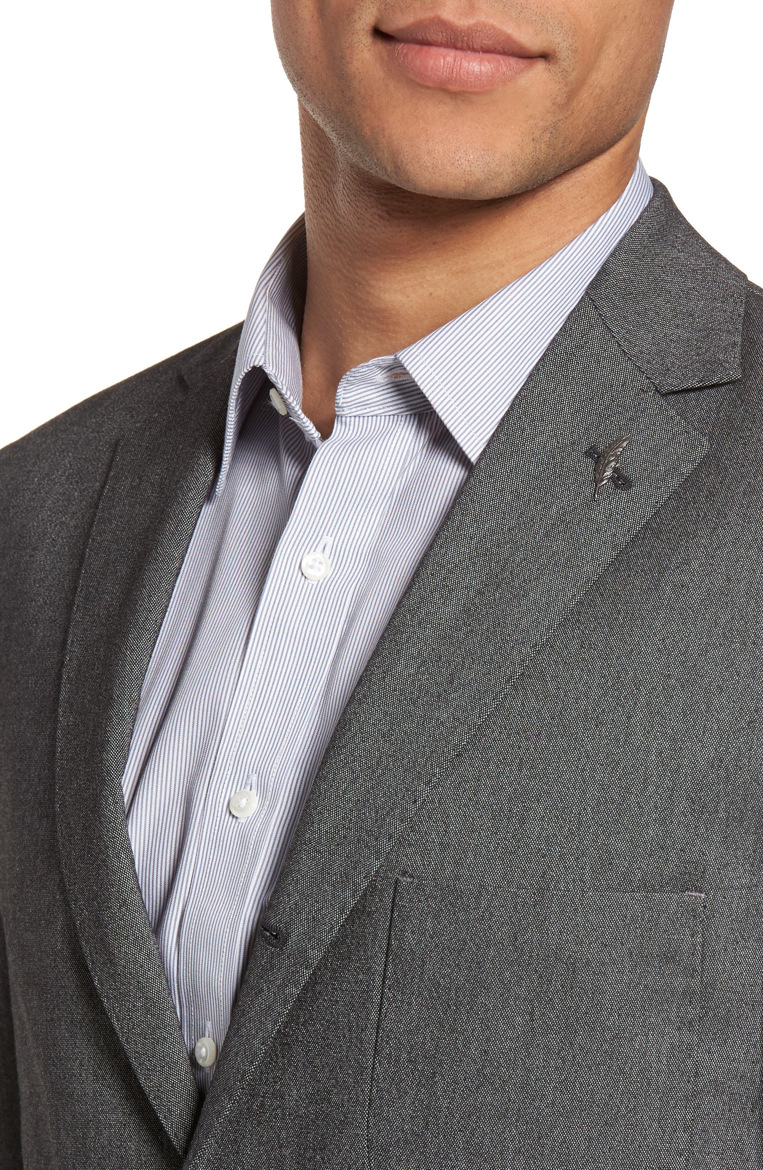 Classic Fit Birdseye Wool Sport Coat,                             Alternate thumbnail 4, color,                             020