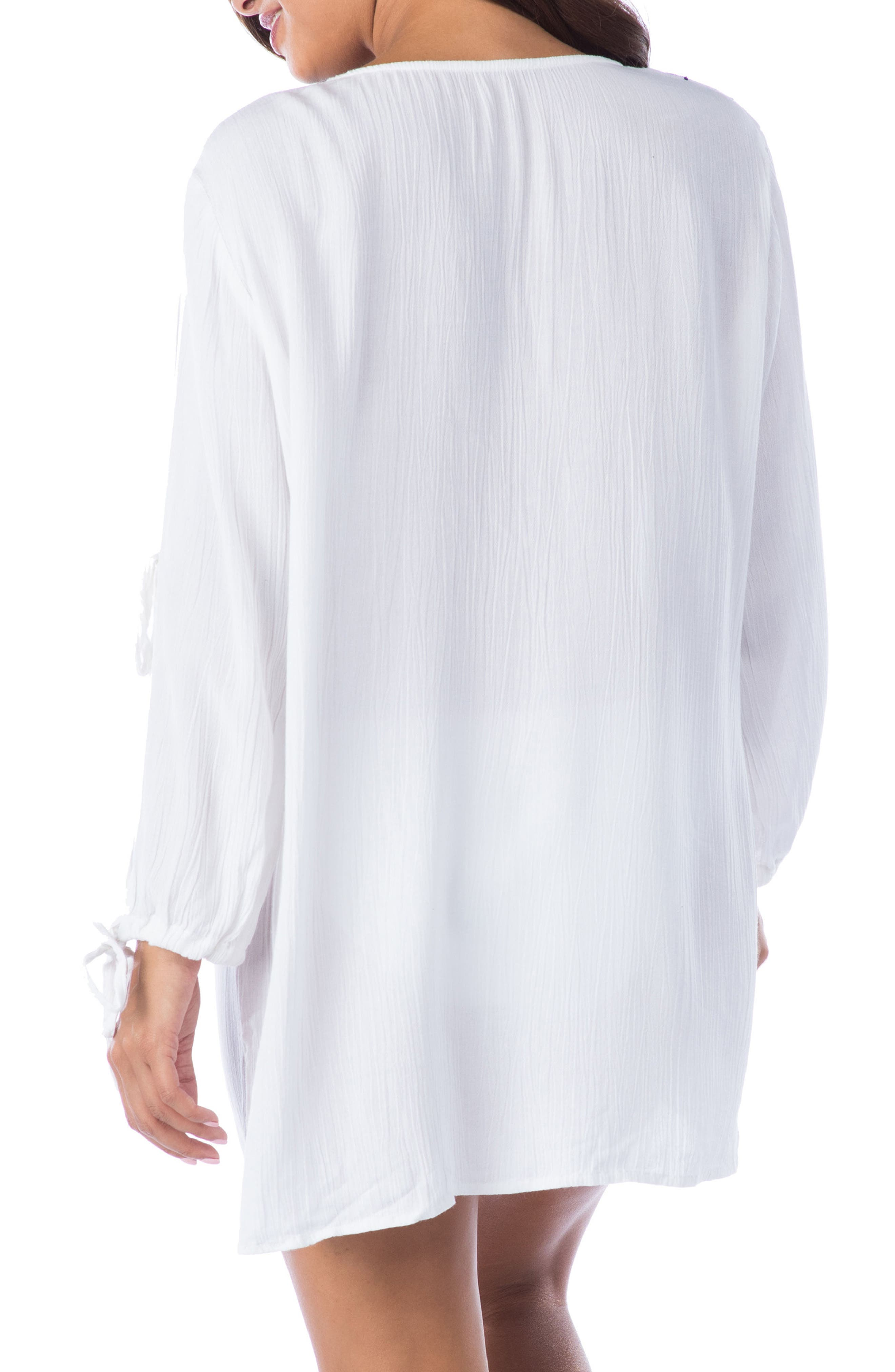 Leaf It Cover-Up Tunic,                             Alternate thumbnail 2, color,                             100