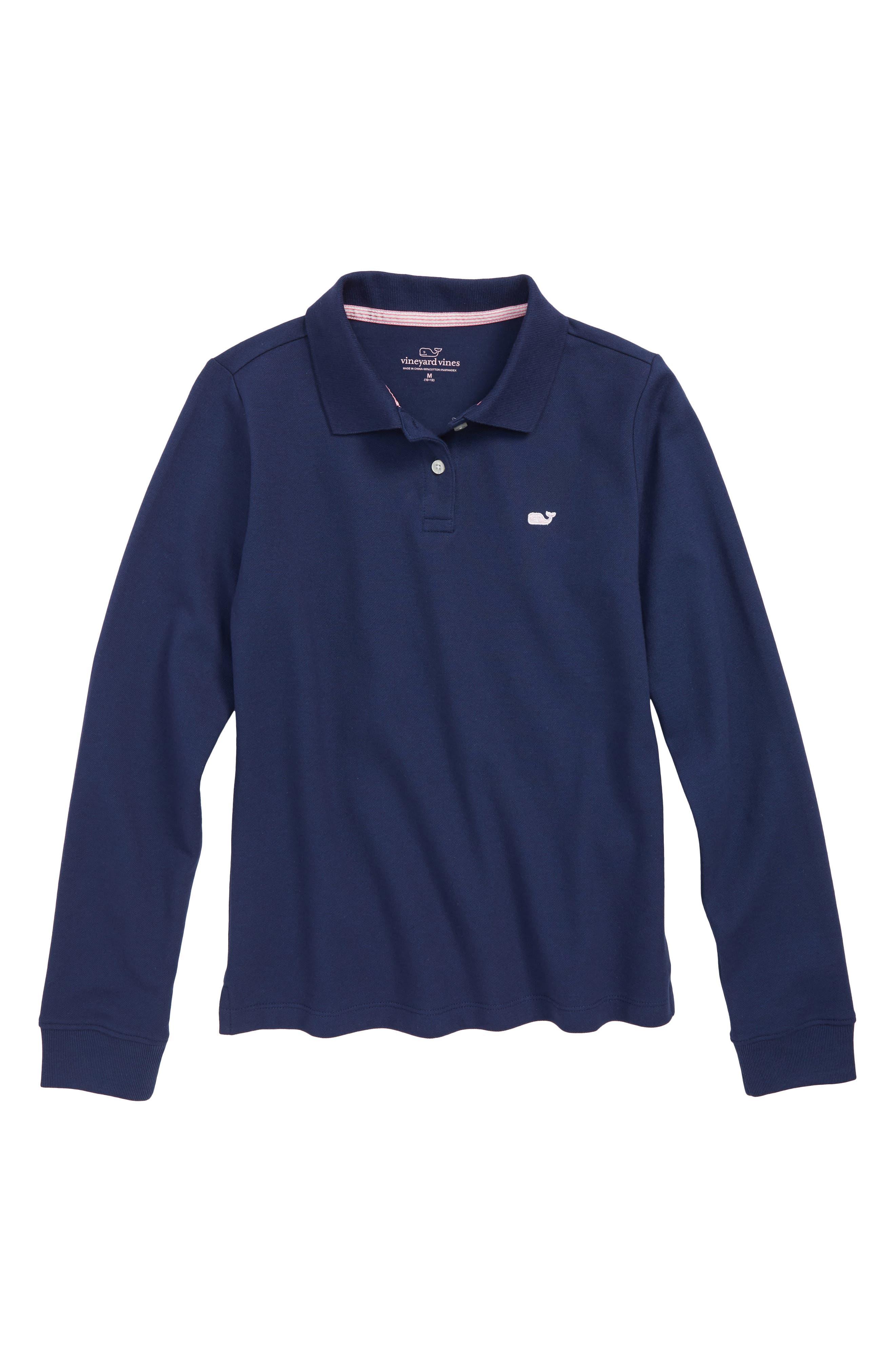 Long Sleeve Pique Polo,                         Main,                         color, 400