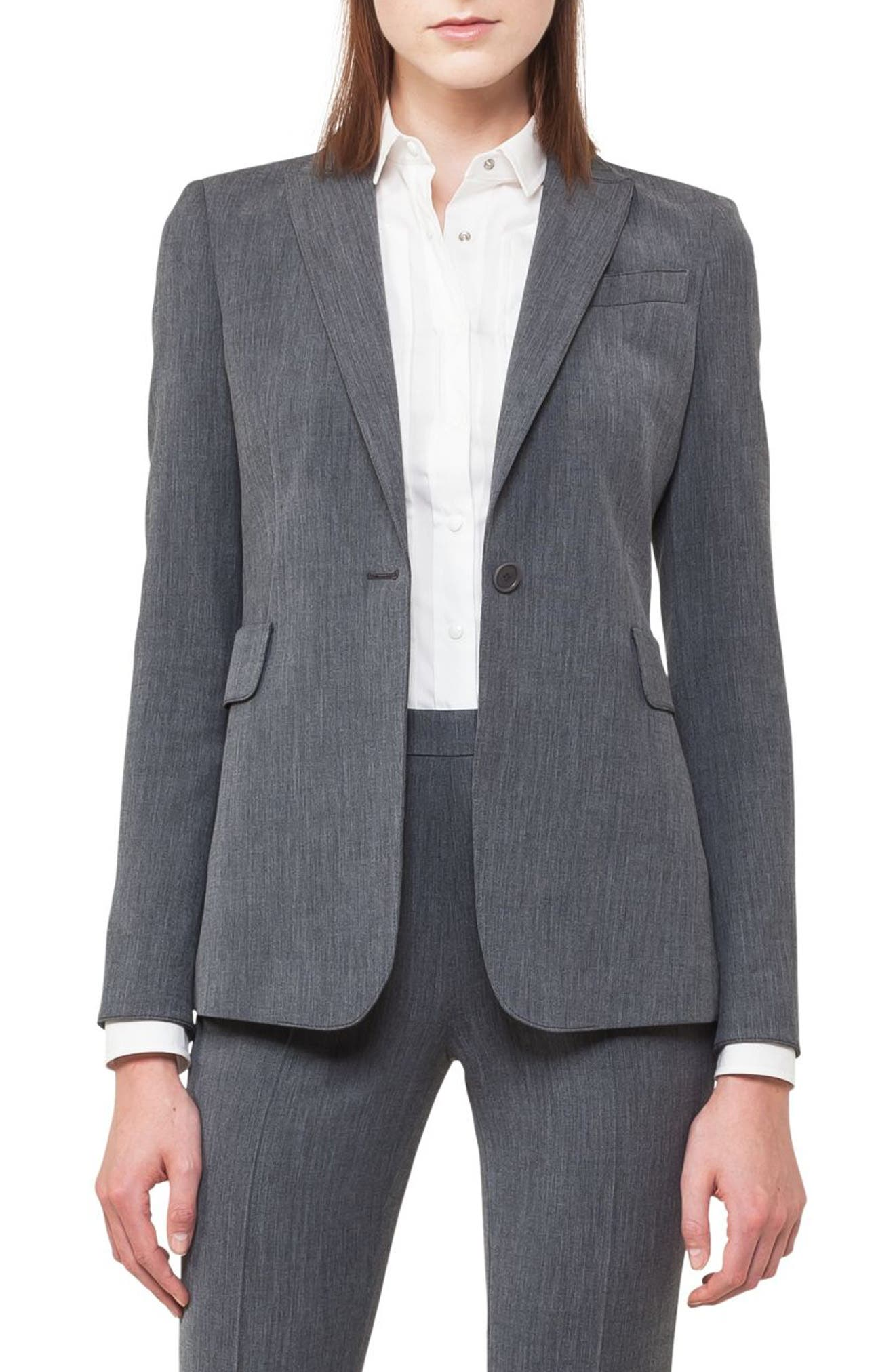 Mélange Jersey Blazer,                         Main,                         color, 001
