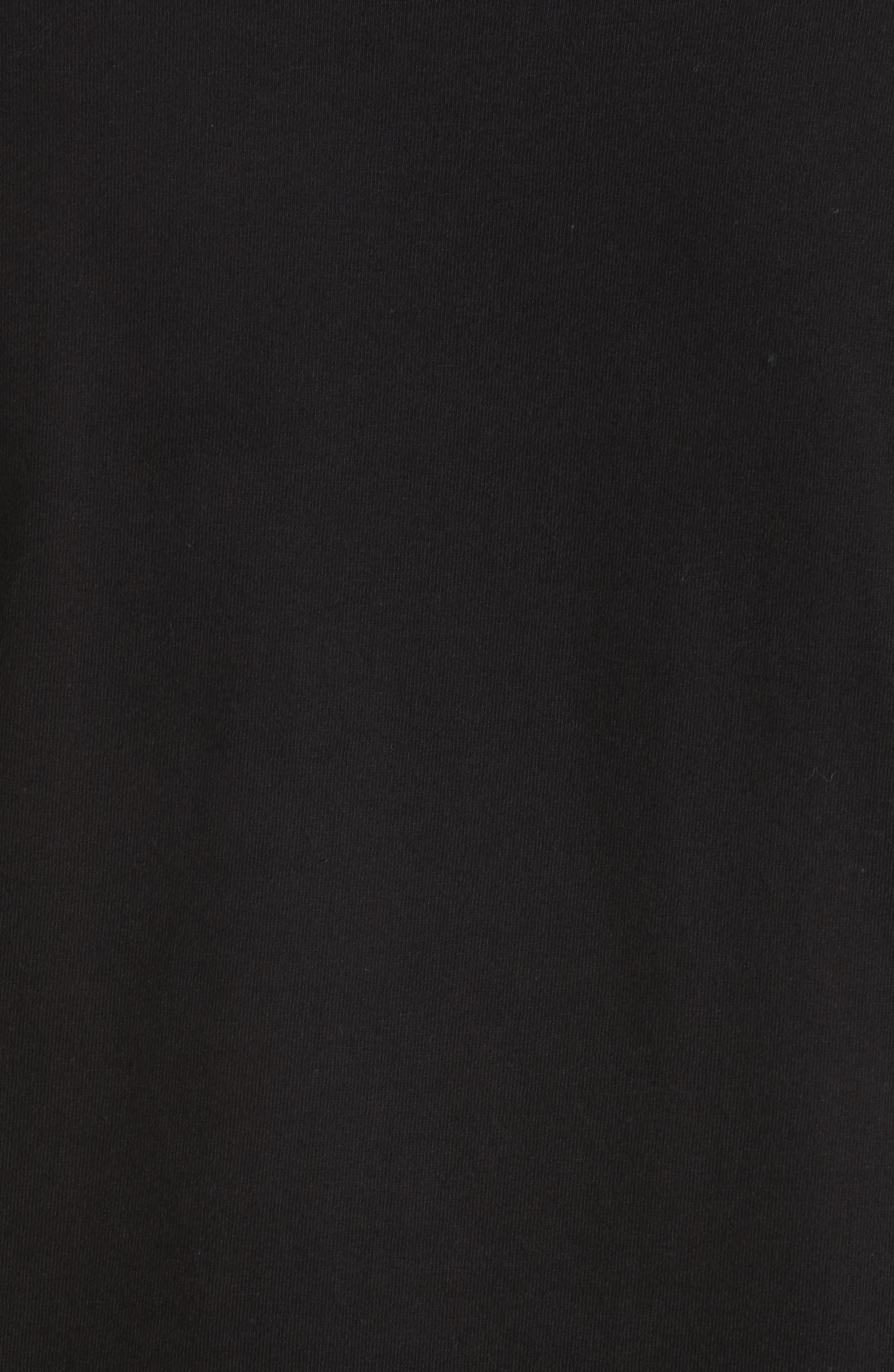 Inverted Heart Logo T-Shirt,                             Alternate thumbnail 5, color,                             BLACK