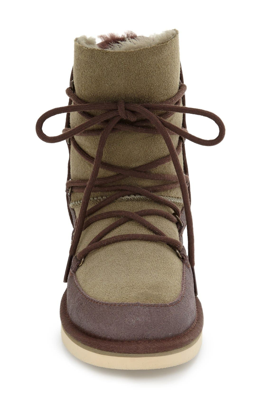 Eliss Water Resistant Suede Boot,                             Alternate thumbnail 5, color,