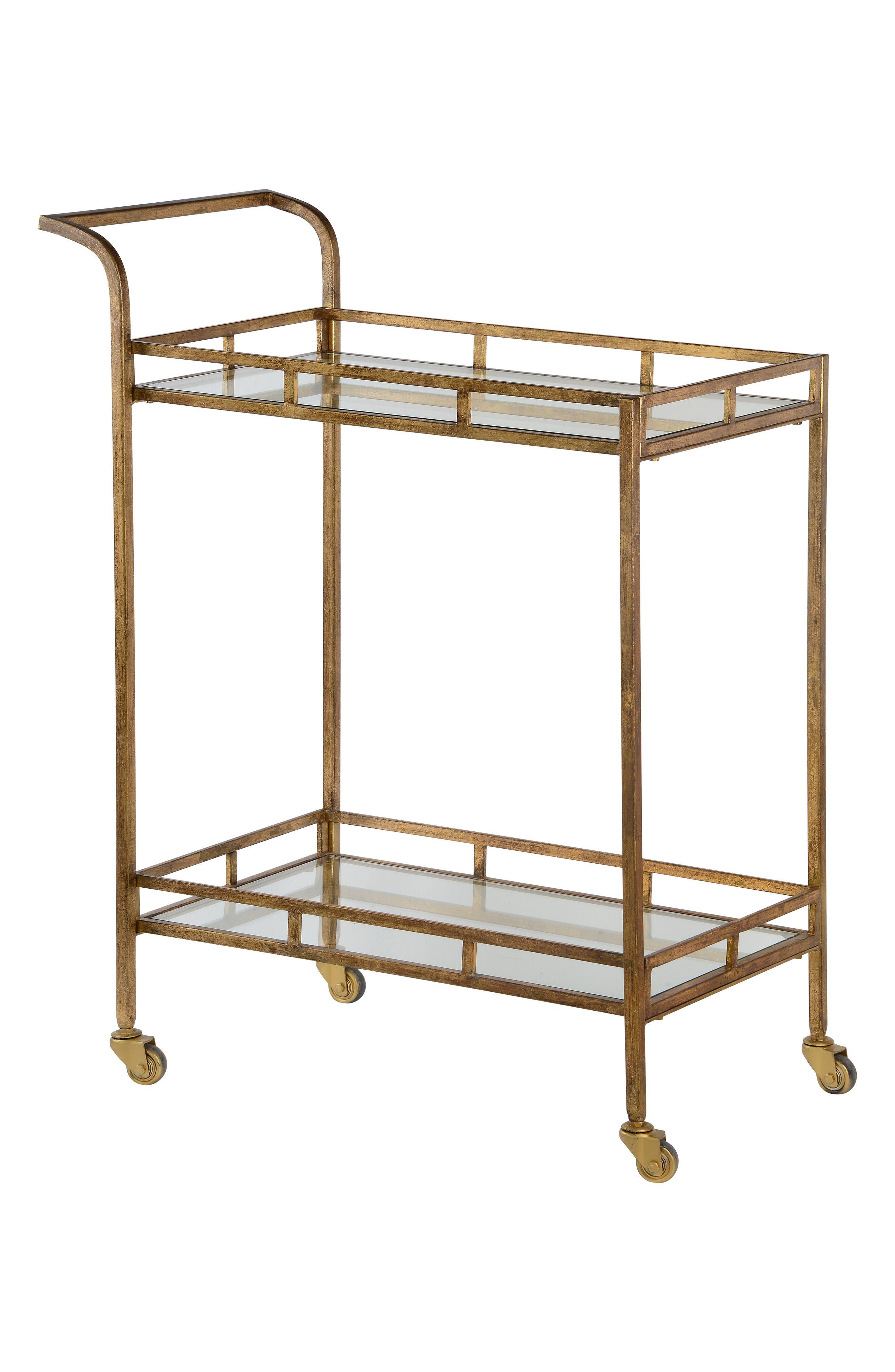Bar Cart,                             Main thumbnail 1, color,                             METALLIC GOLD
