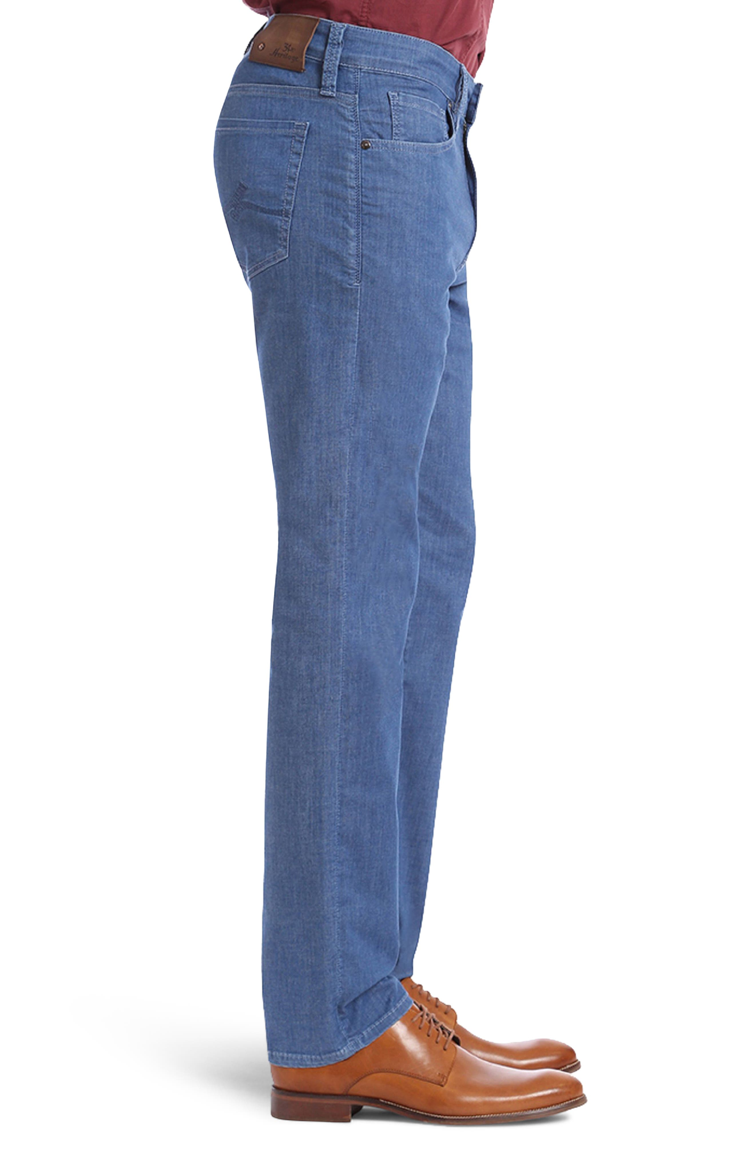 Courage Straight Fit Jeans,                             Alternate thumbnail 3, color,                             MID MAUI DENIM