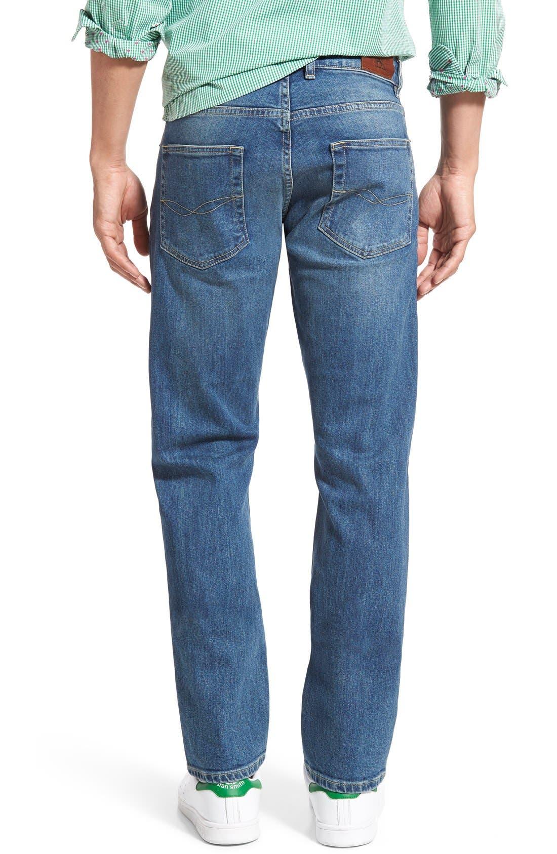 'Nicholls' Regular Fit Straight Leg Jeans,                             Alternate thumbnail 2, color,                             DENIM