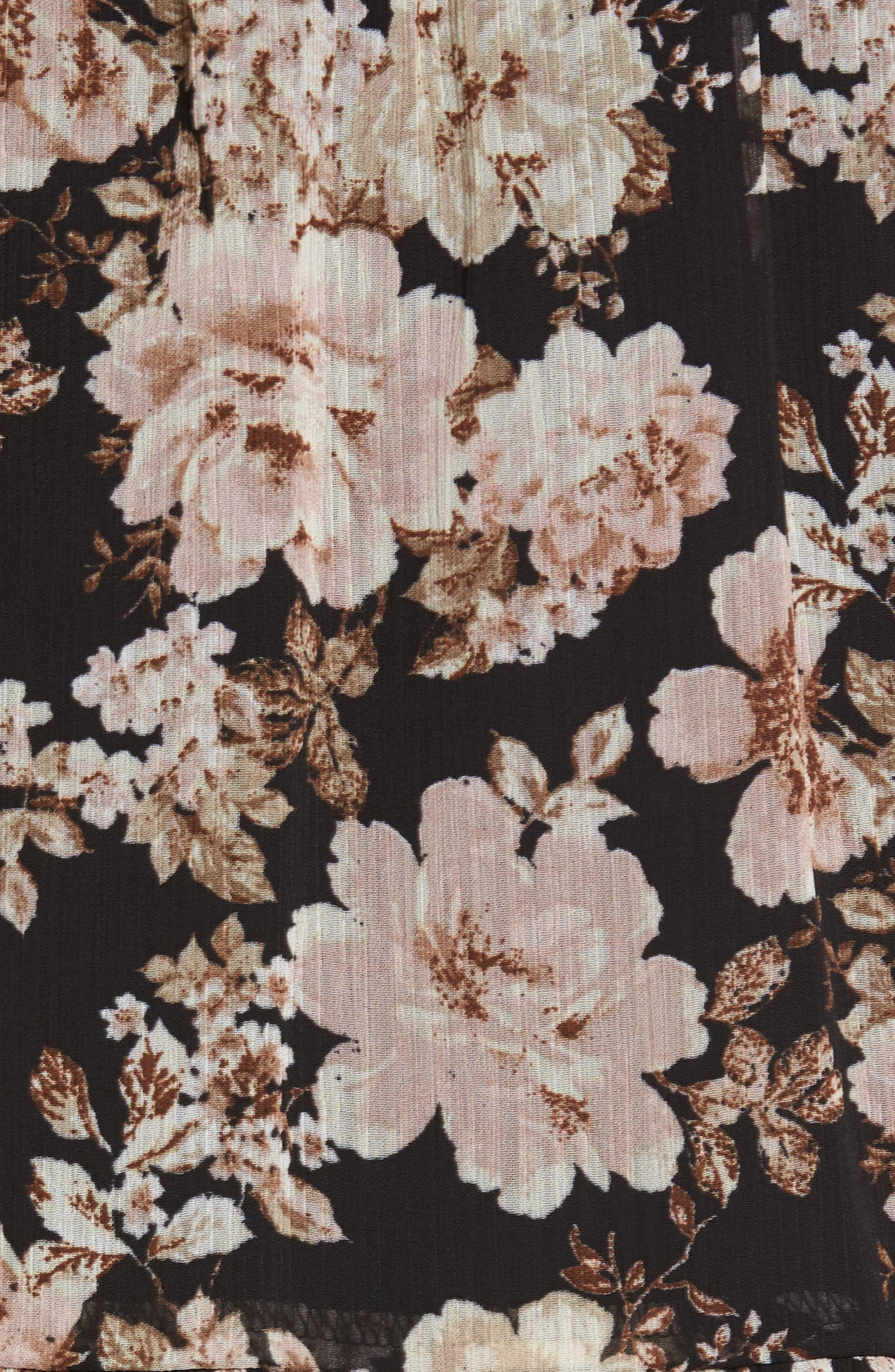 Floral Print Drop Waist Skirt,                             Alternate thumbnail 5, color,                             001