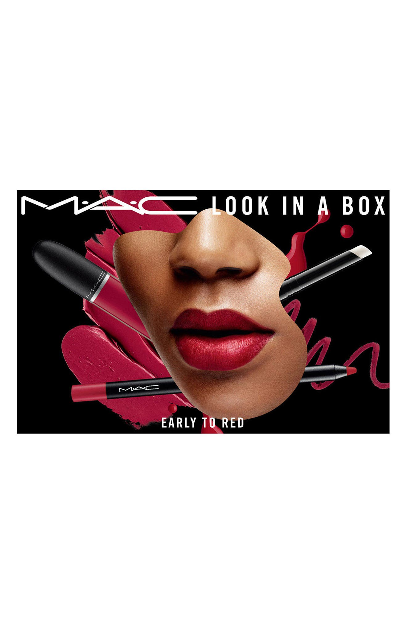 MAC Look in a Box Early to Red Lip Kit,                             Alternate thumbnail 3, color,