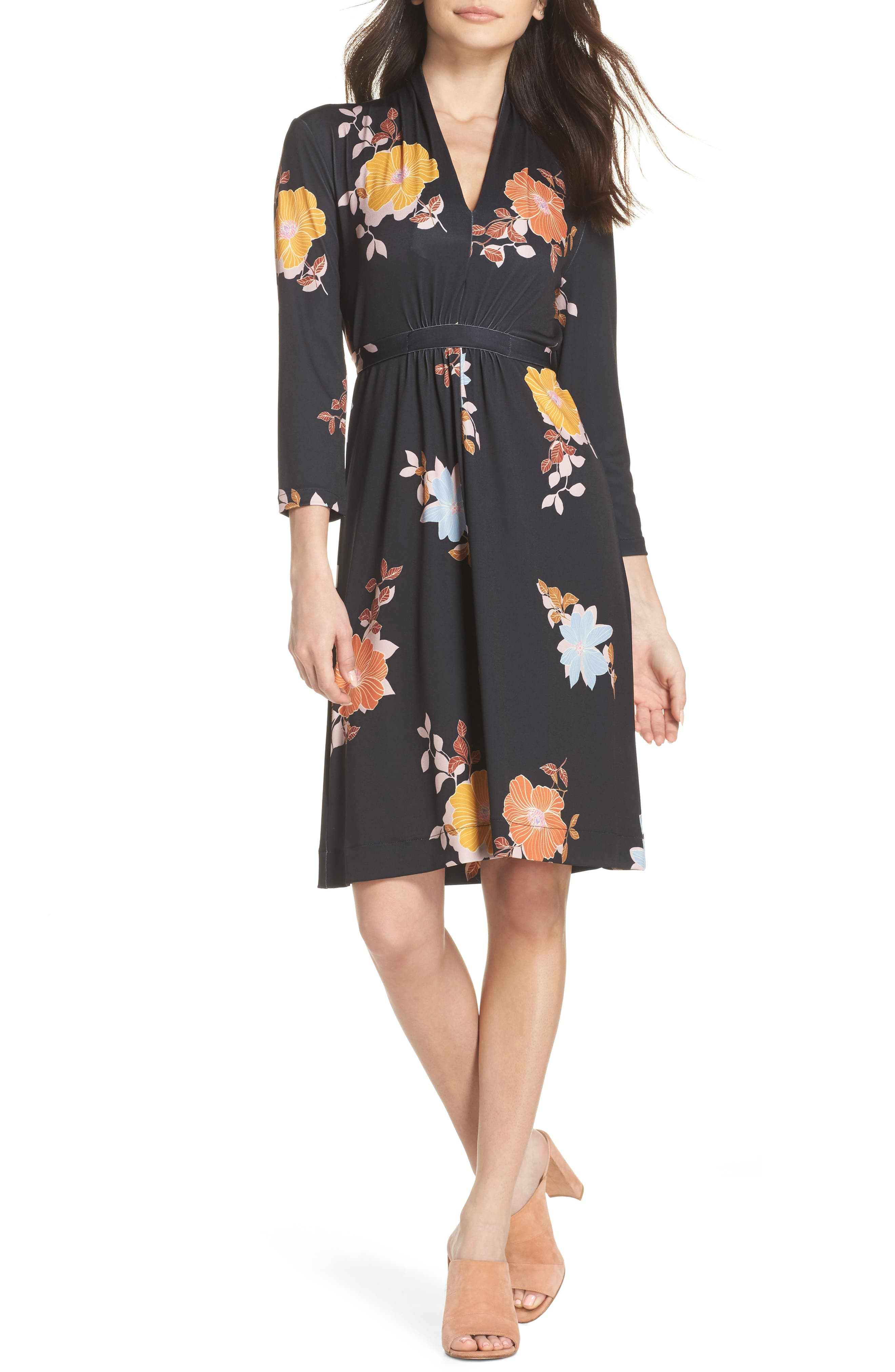 Shikoku Floral Dress,                             Main thumbnail 1, color,                             015