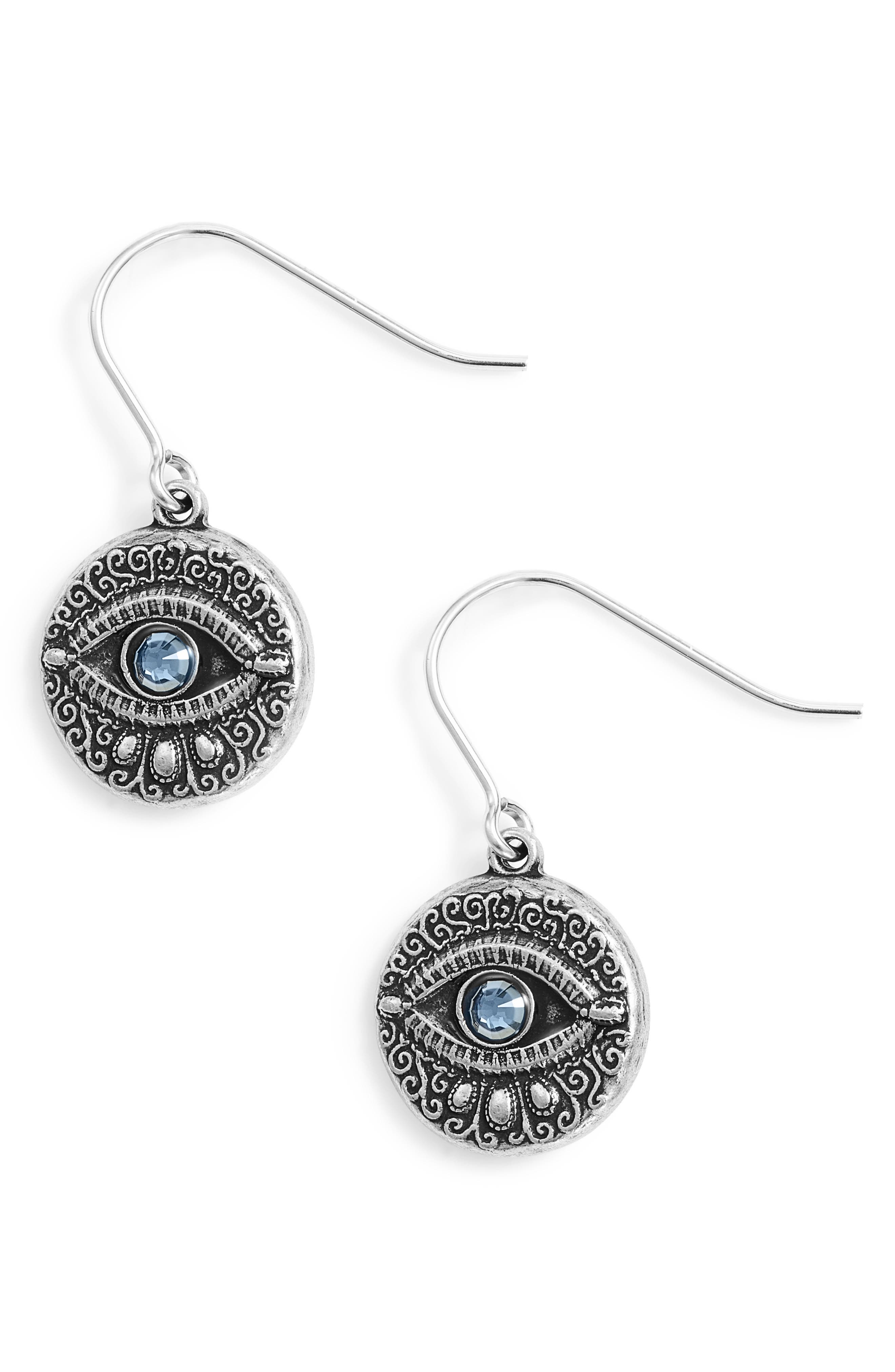 Evil Eye Earrings,                             Main thumbnail 1, color,                             040