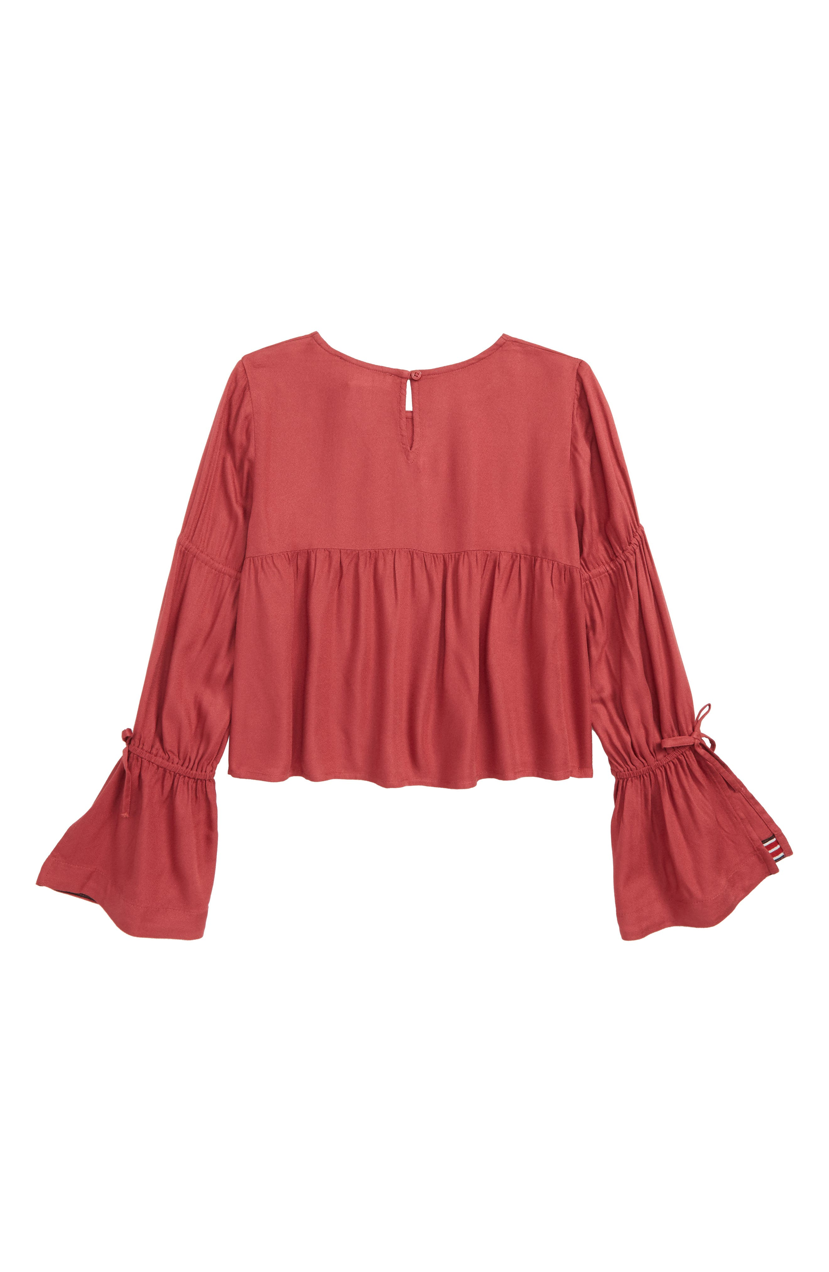 Bell Sleeve Top,                             Alternate thumbnail 2, color,                             RED EARTH