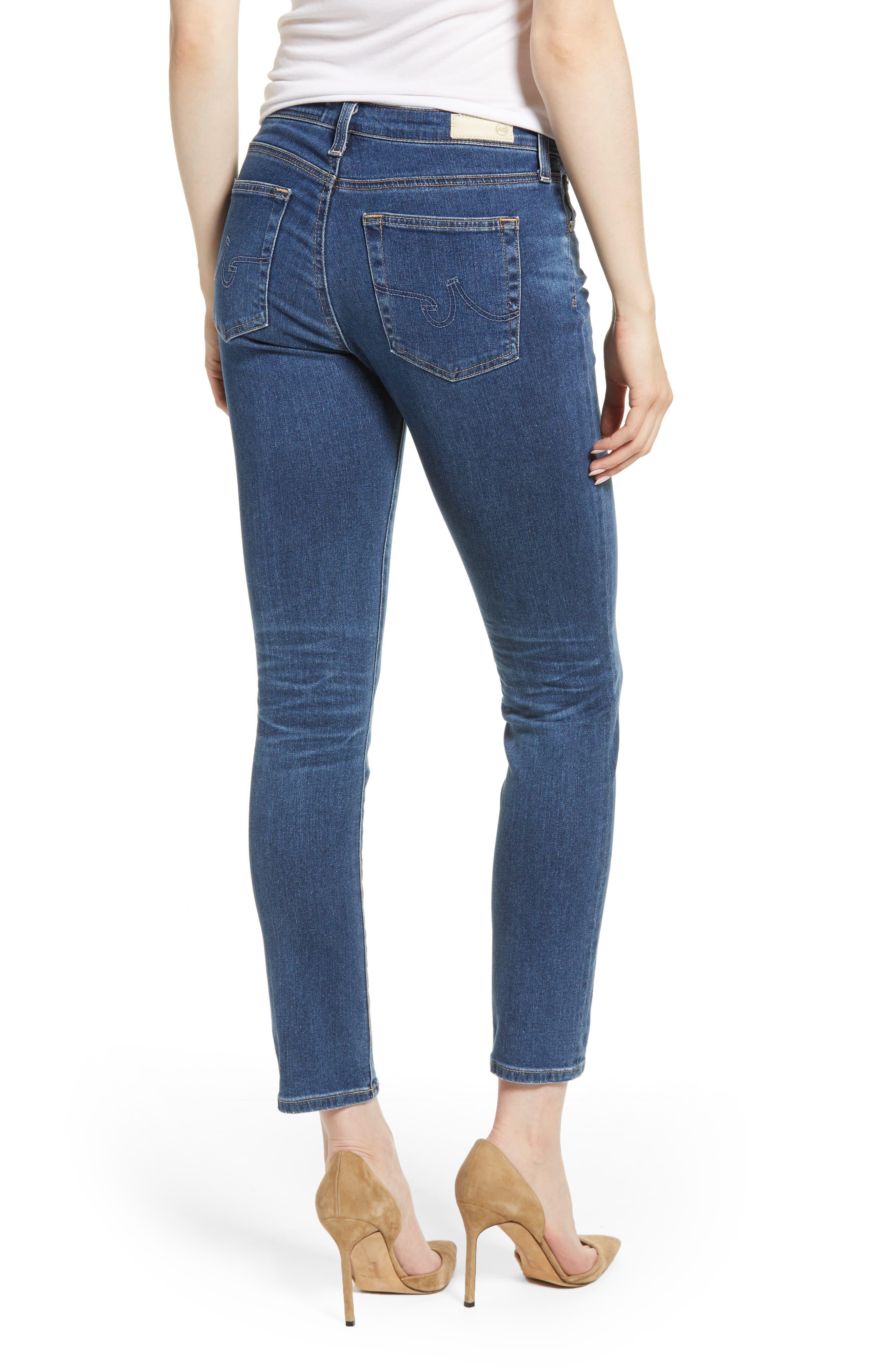 Prima Ankle Cigarette Jeans,                             Alternate thumbnail 2, color,                             8 YEARS BLUE PORTRAIT