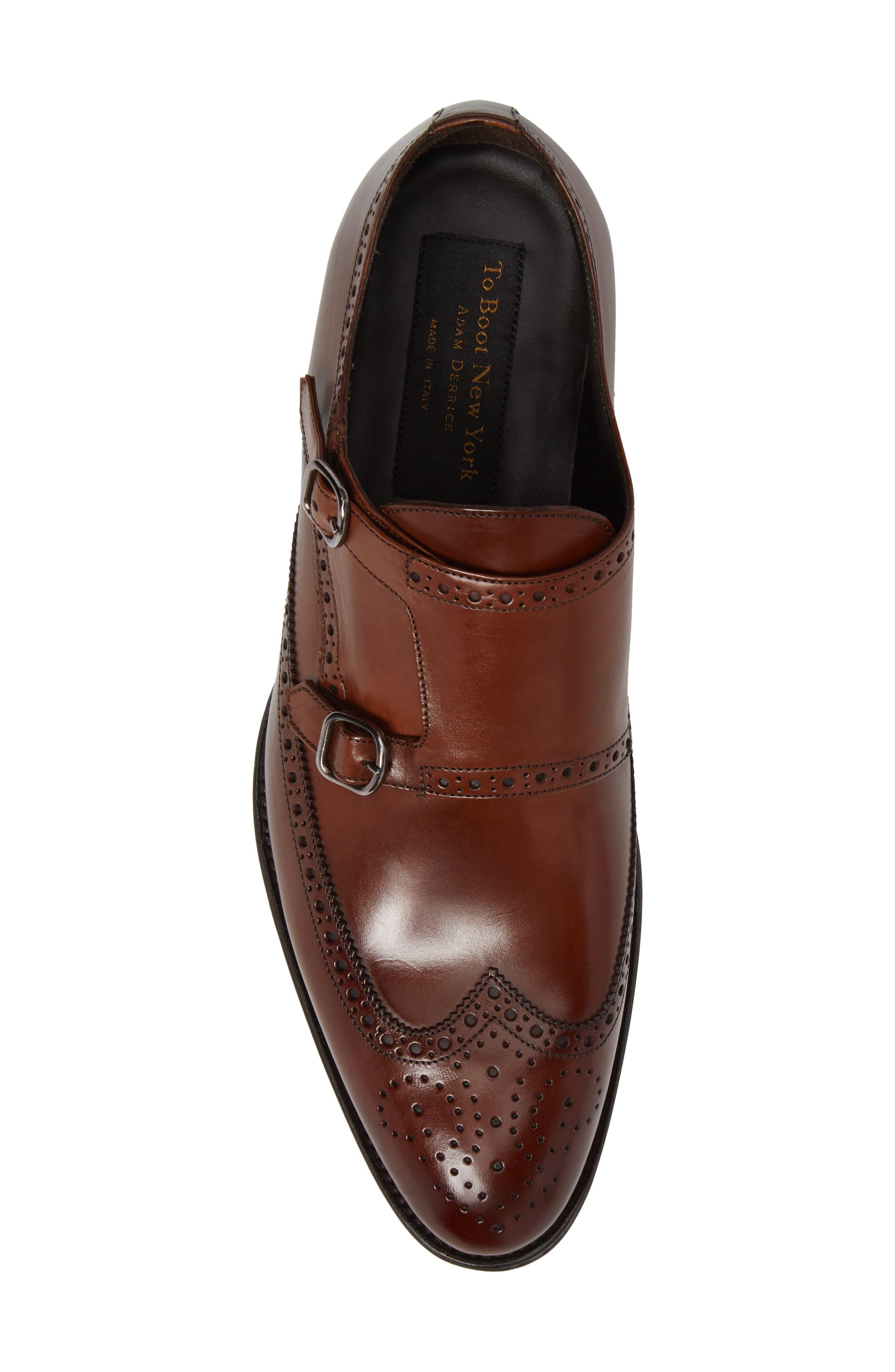 Pike Double Monk Strap Shoe,                             Alternate thumbnail 5, color,