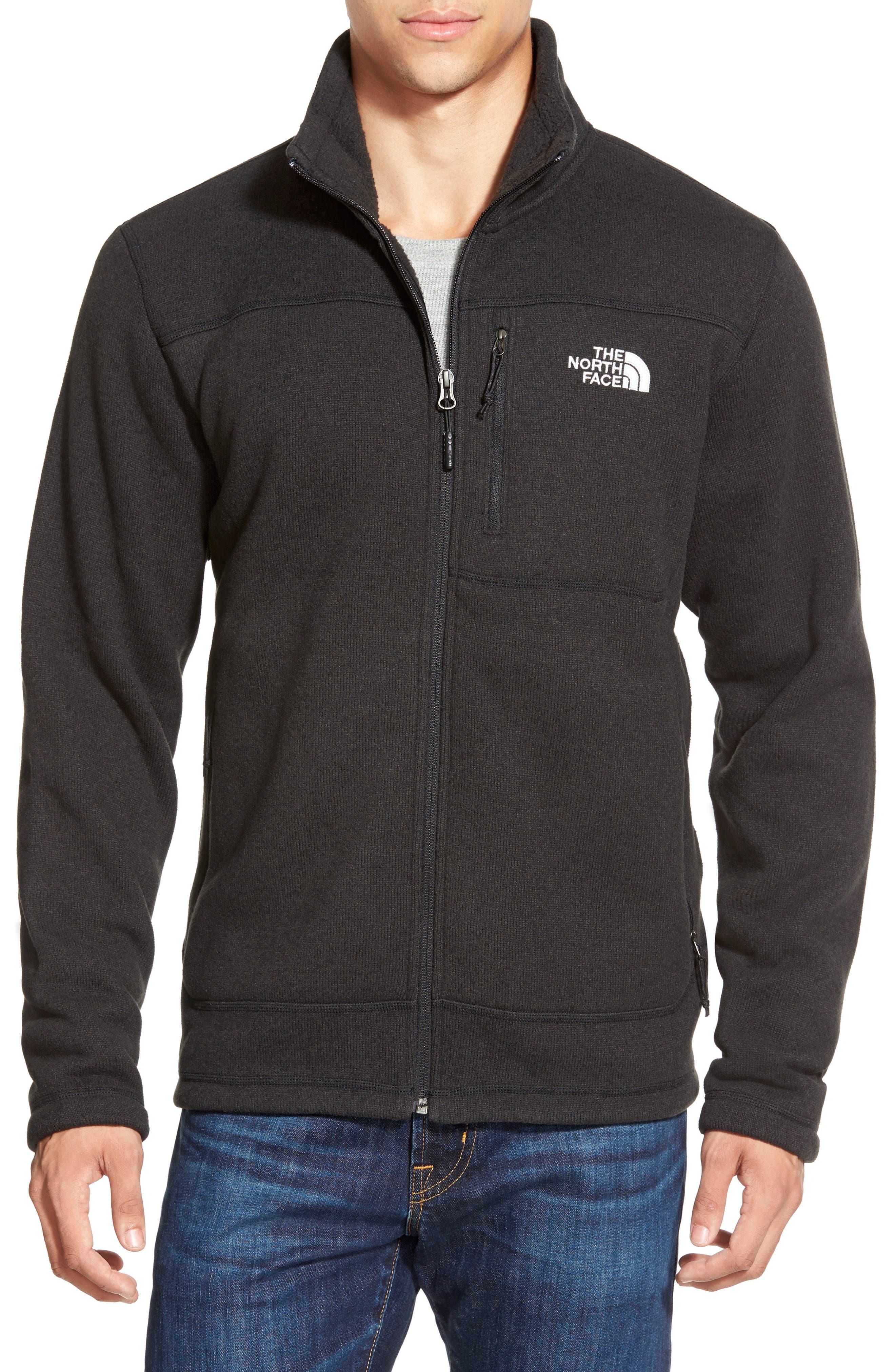 'Gordon Lyons' Zip Fleece Jacket,                             Alternate thumbnail 7, color,                             BLACK HEATHER