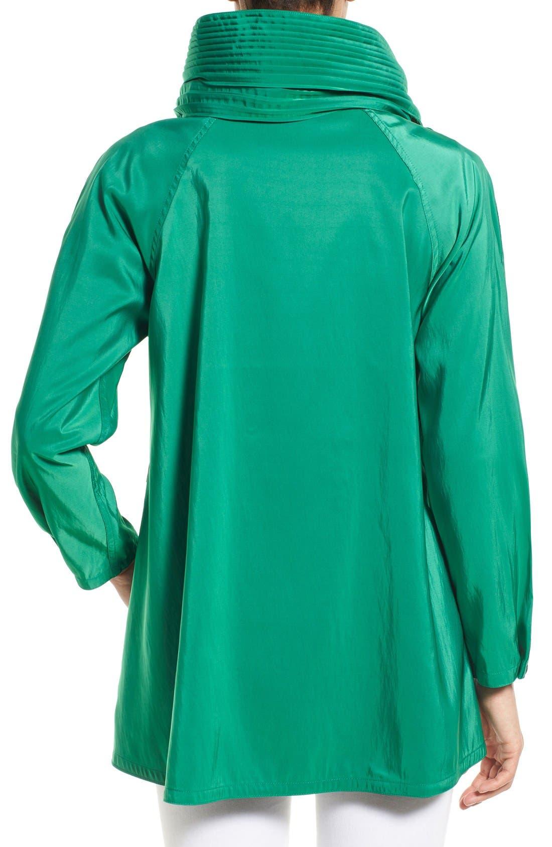 'Mini Donatella' Reversible Pleat Hood Packable Travel Coat,                             Alternate thumbnail 36, color,