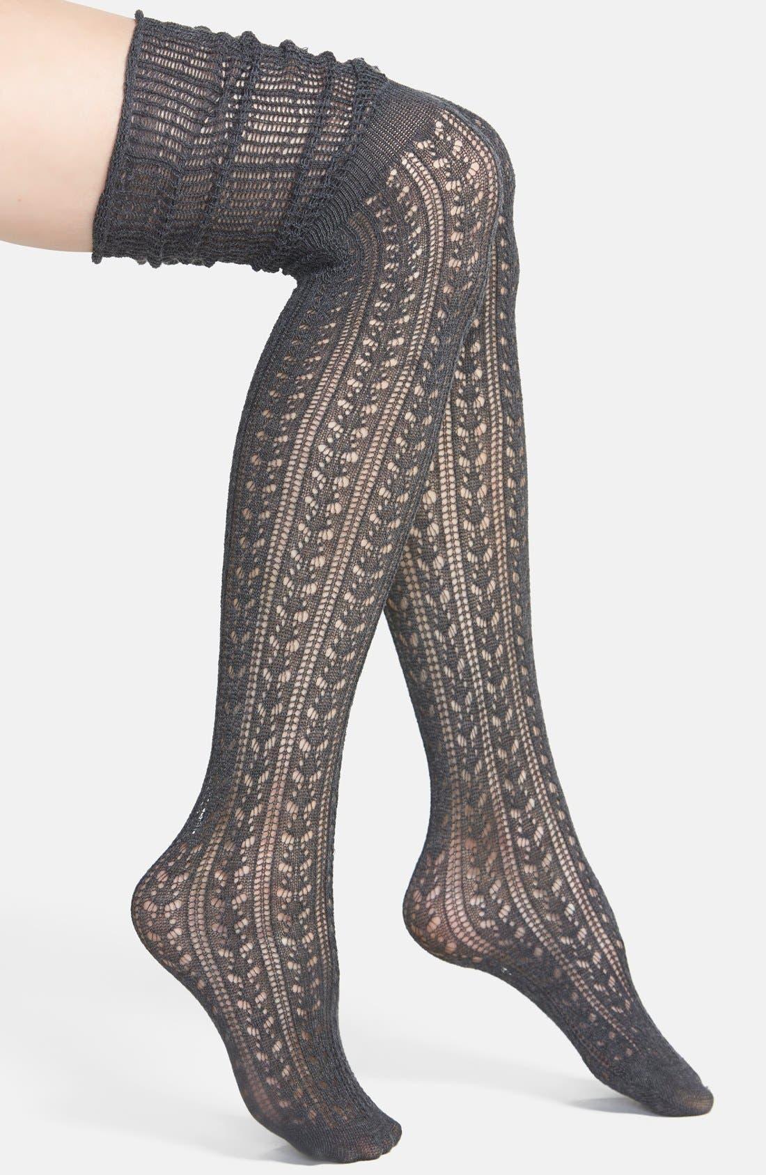 'Bowery' Over The Knee Socks,                             Main thumbnail 1, color,                             055