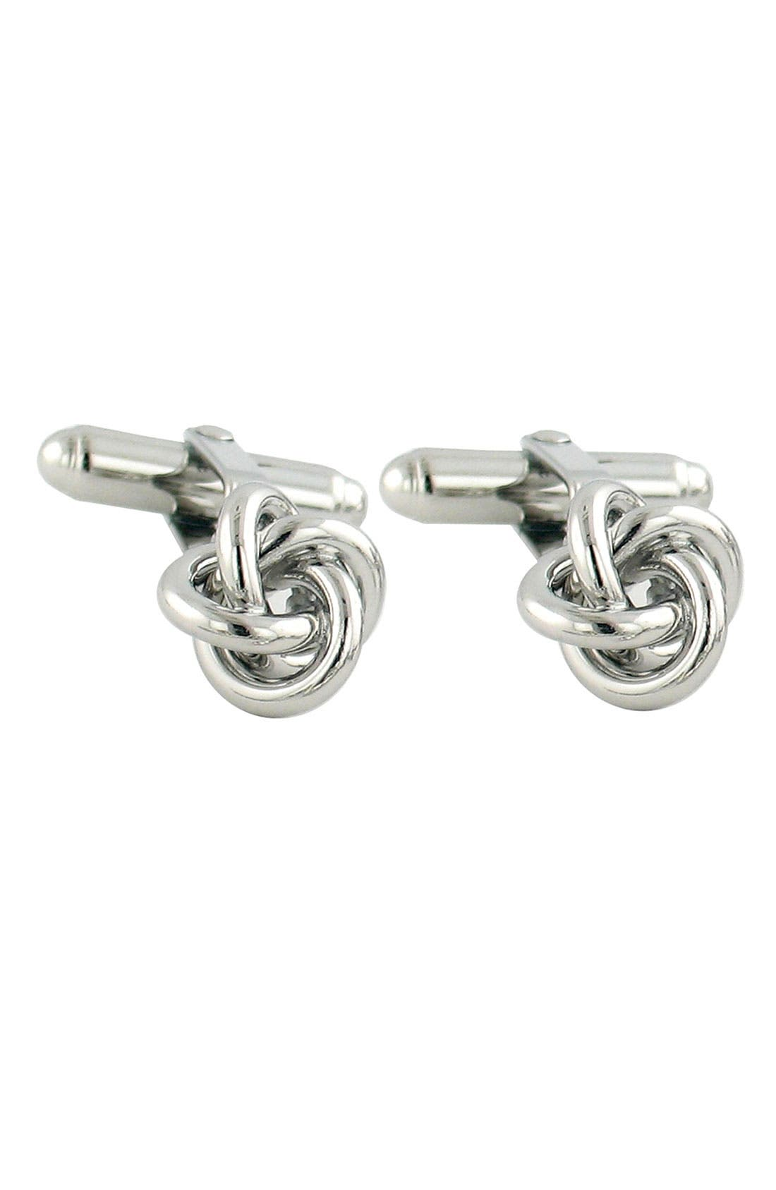 Knot Cuff Links,                             Main thumbnail 6, color,