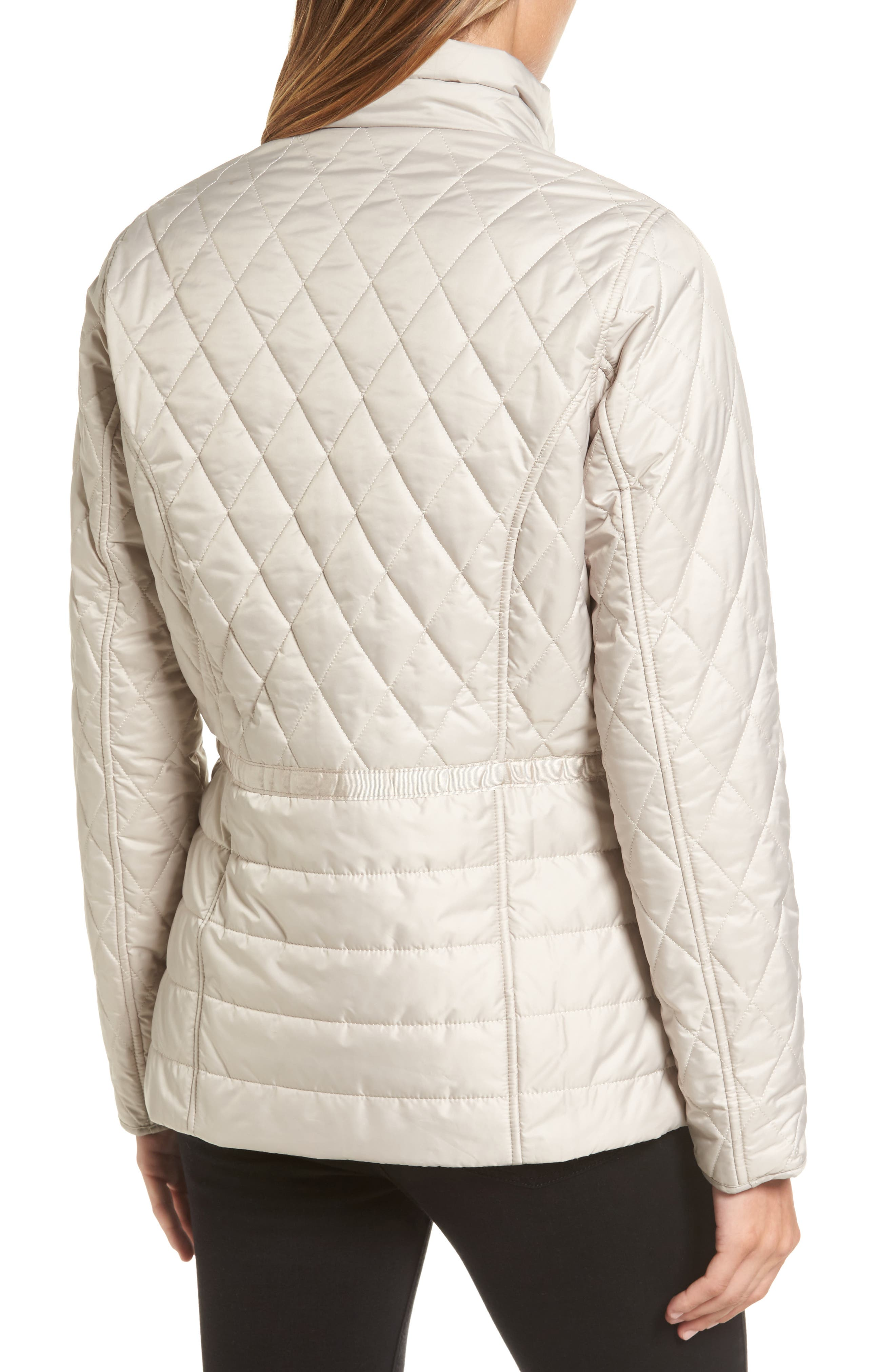 Water Resistant Quilted Jacket,                             Alternate thumbnail 3, color,