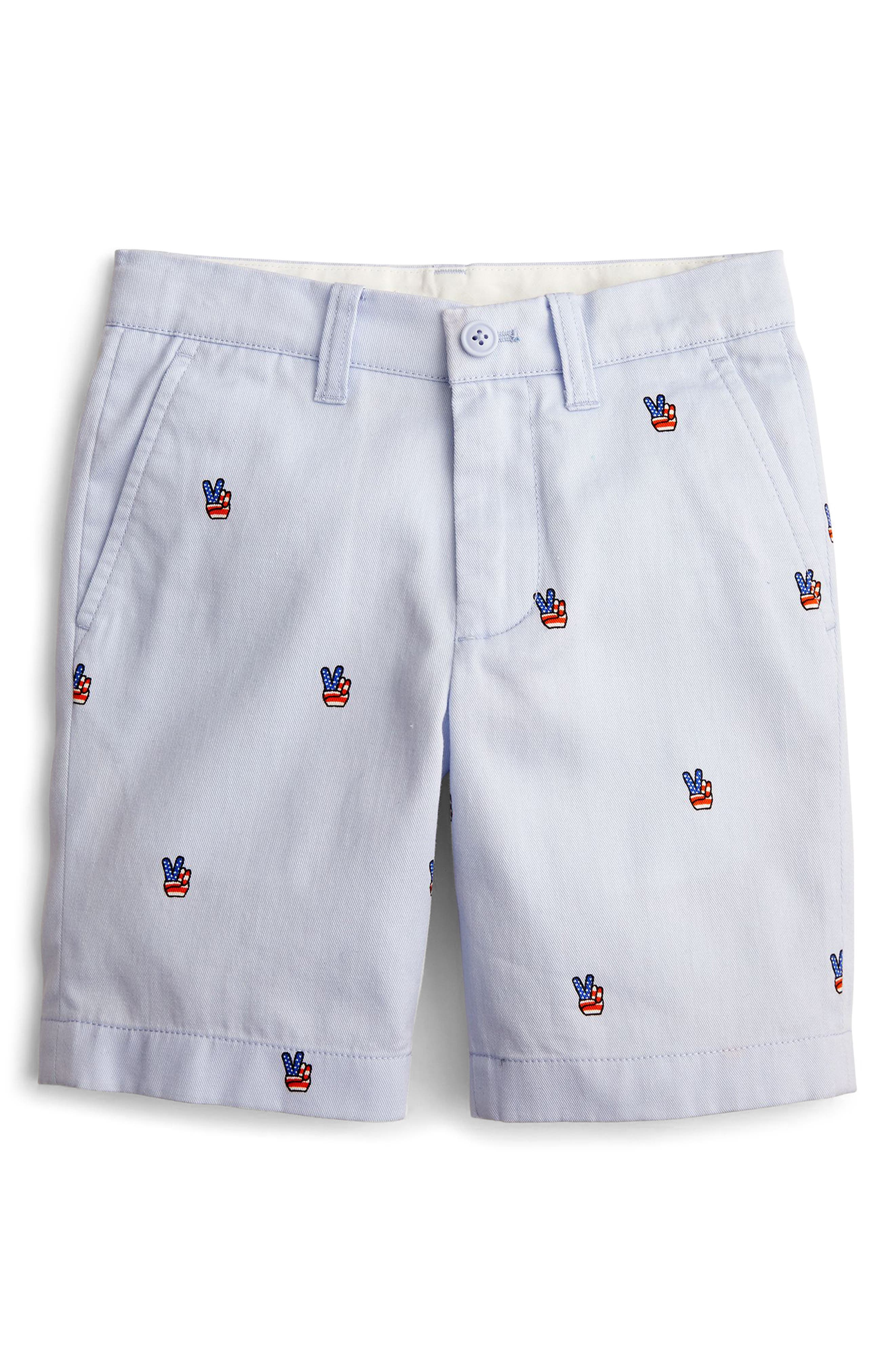 Stanton Peace Sign Shorts,                         Main,                         color, OXFORD BLUE