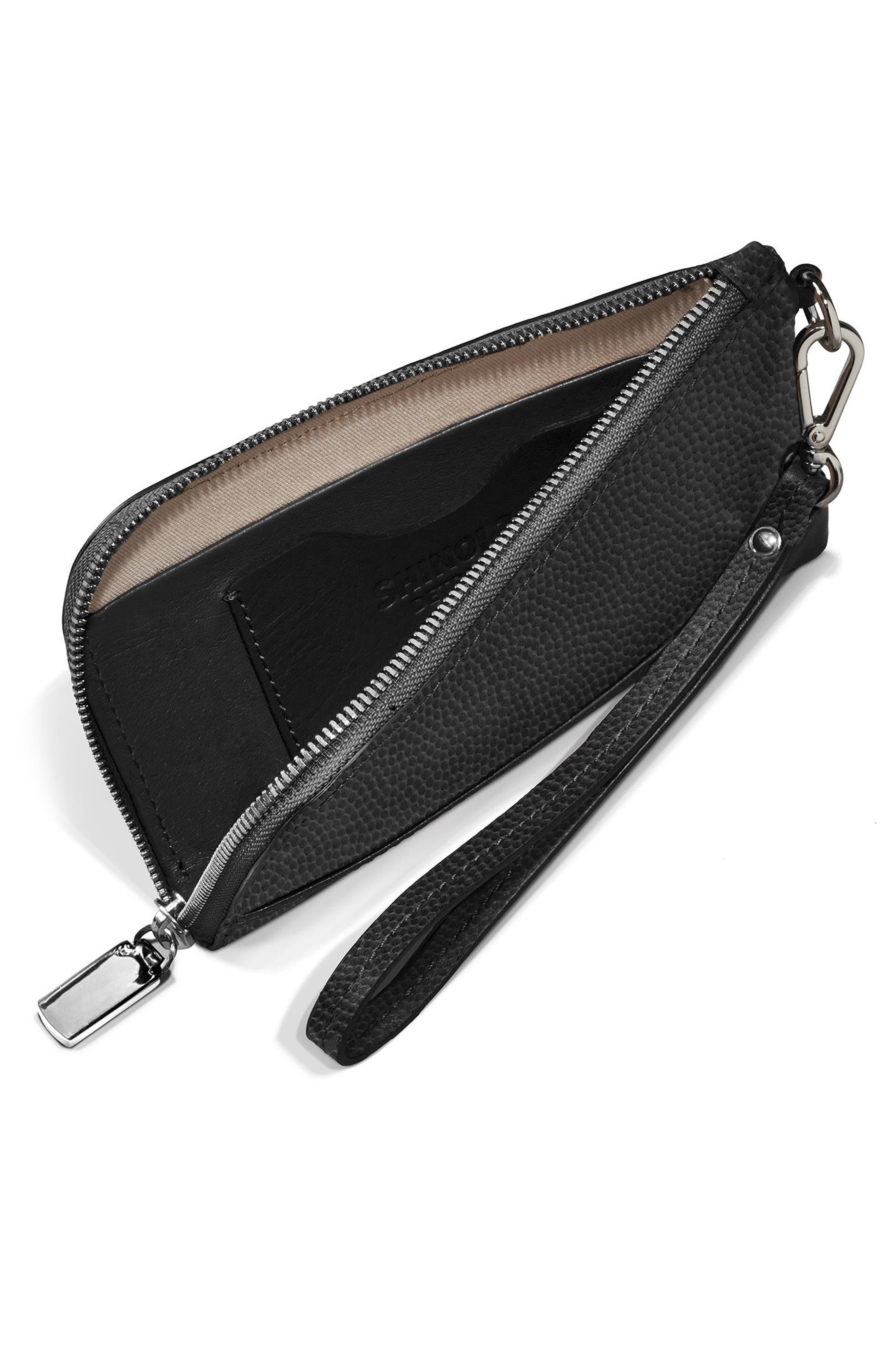Latigo Leather Wristlet,                             Alternate thumbnail 3, color,                             001