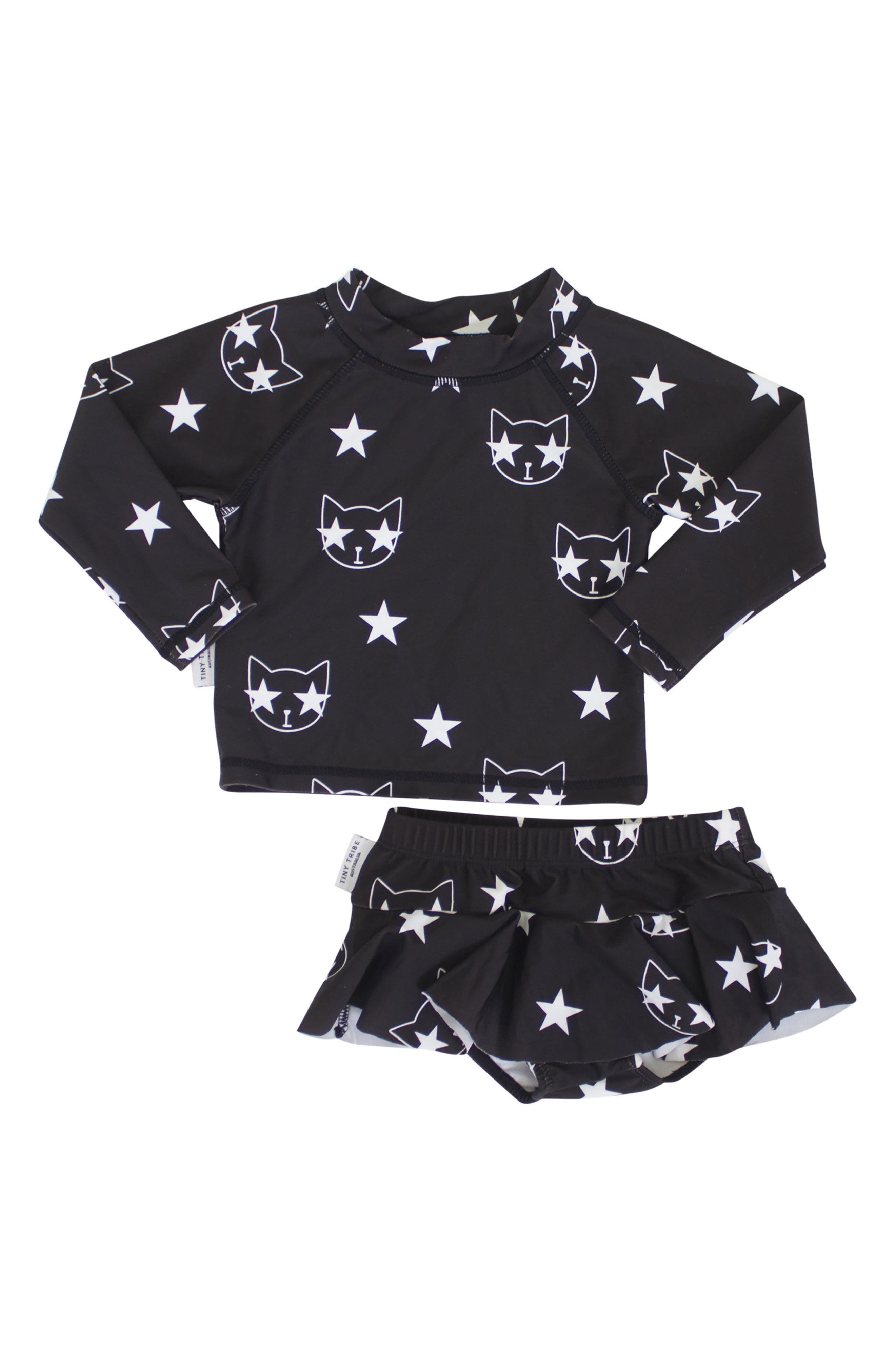 Star Cat Two-Piece Swimsuit,                             Main thumbnail 1, color,                             001