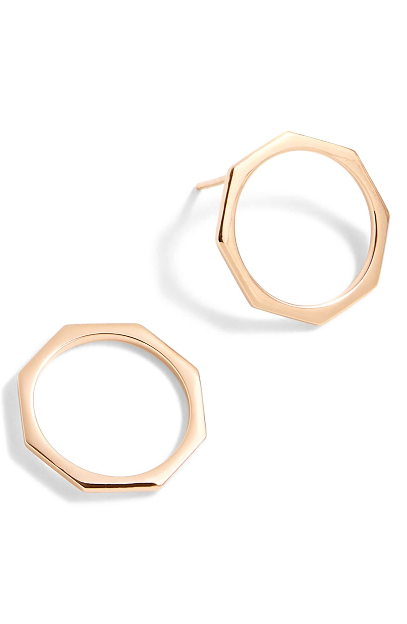 Delicate Octagon Earrings,                             Main thumbnail 1, color,                             650