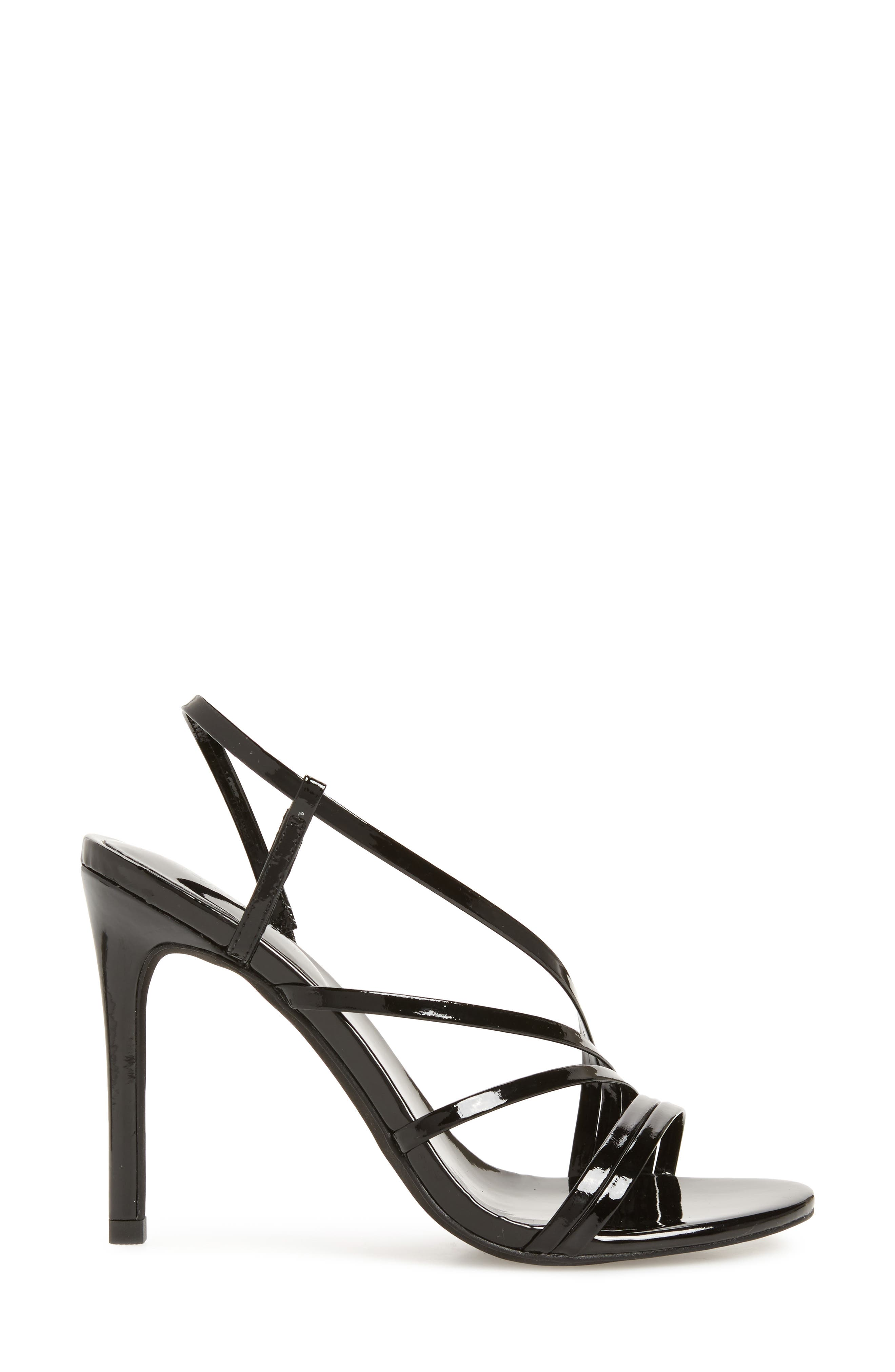 Lilian Asymmetrical Strappy Sandal,                             Alternate thumbnail 3, color,                             001