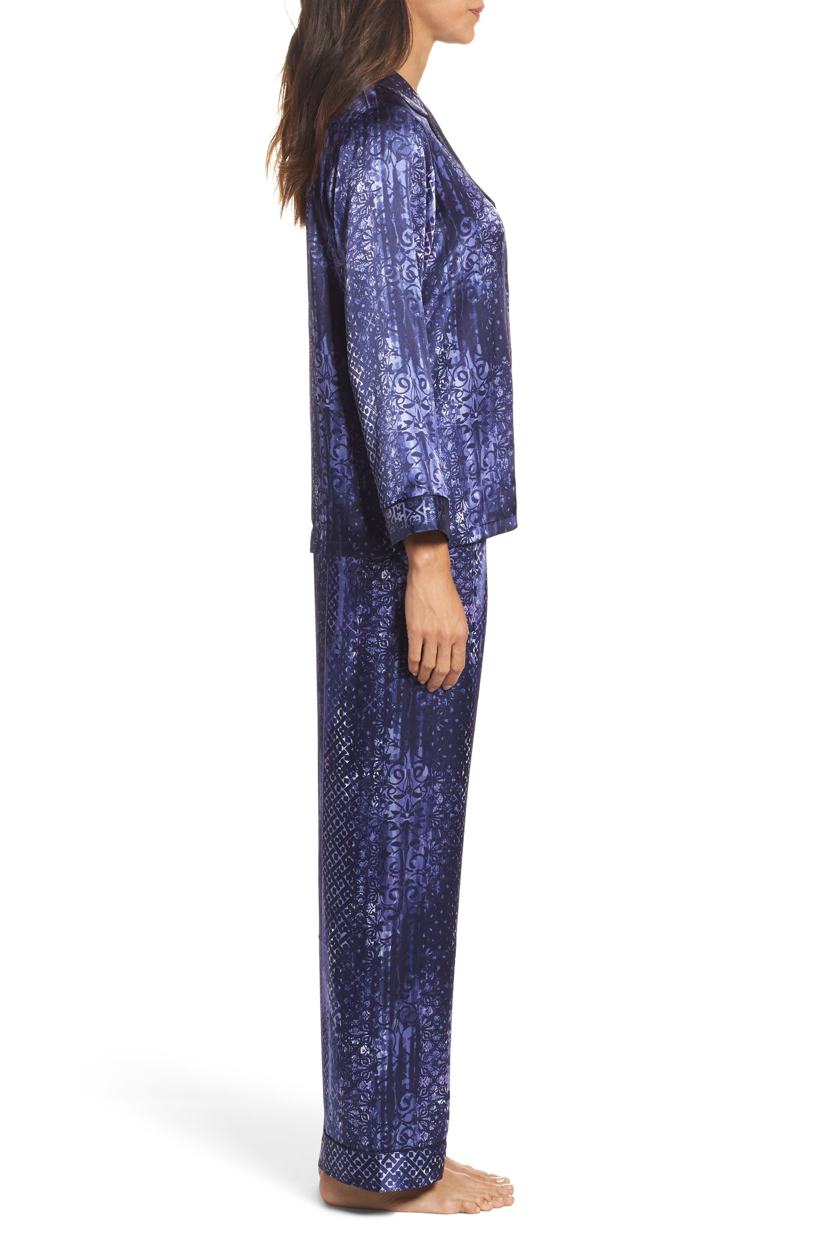 Sleepwear Charmeuse Pajamas,                             Alternate thumbnail 3, color,                             497