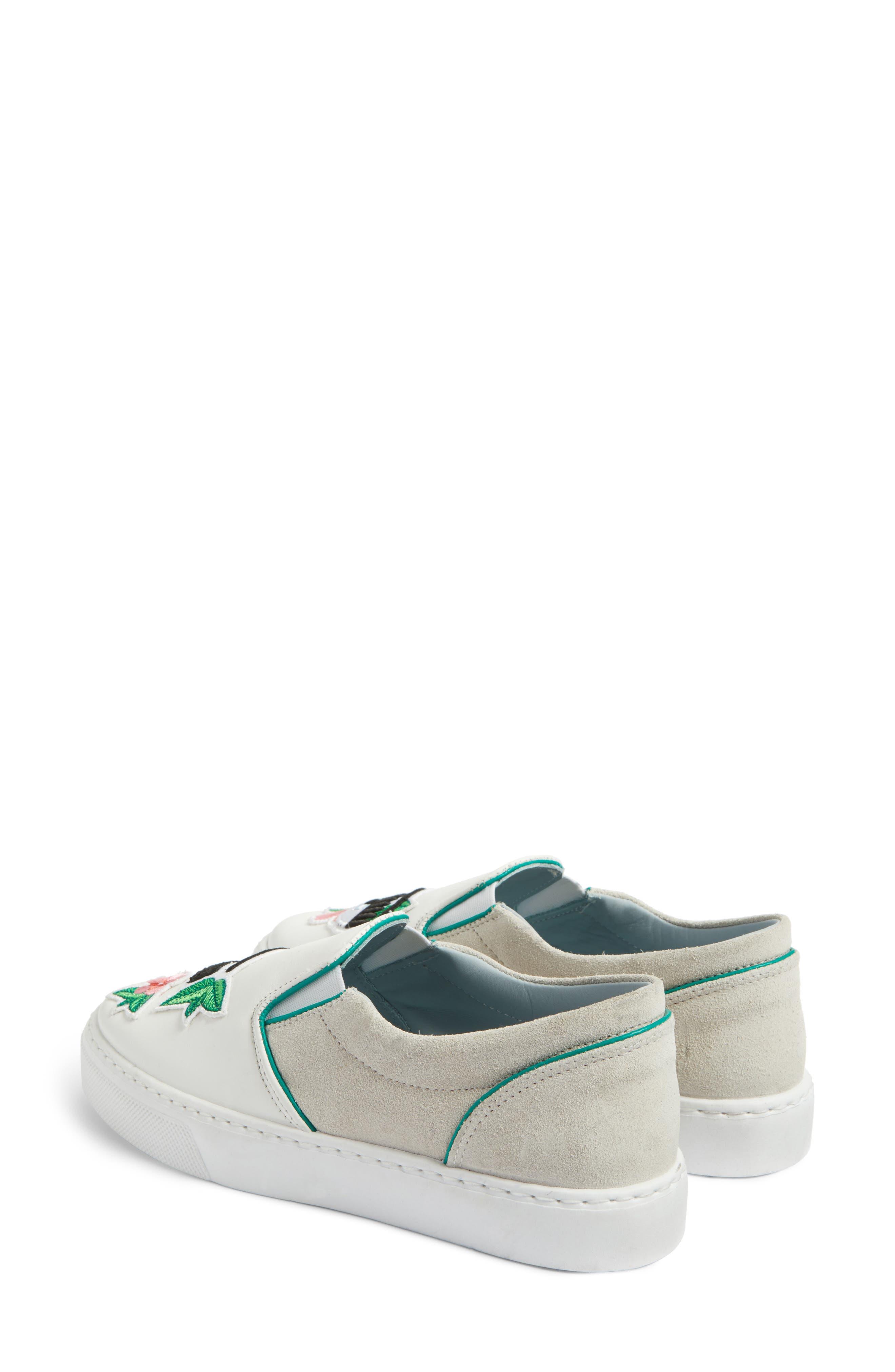 Flower Power Slip-On Sneaker,                             Alternate thumbnail 3, color,                             168