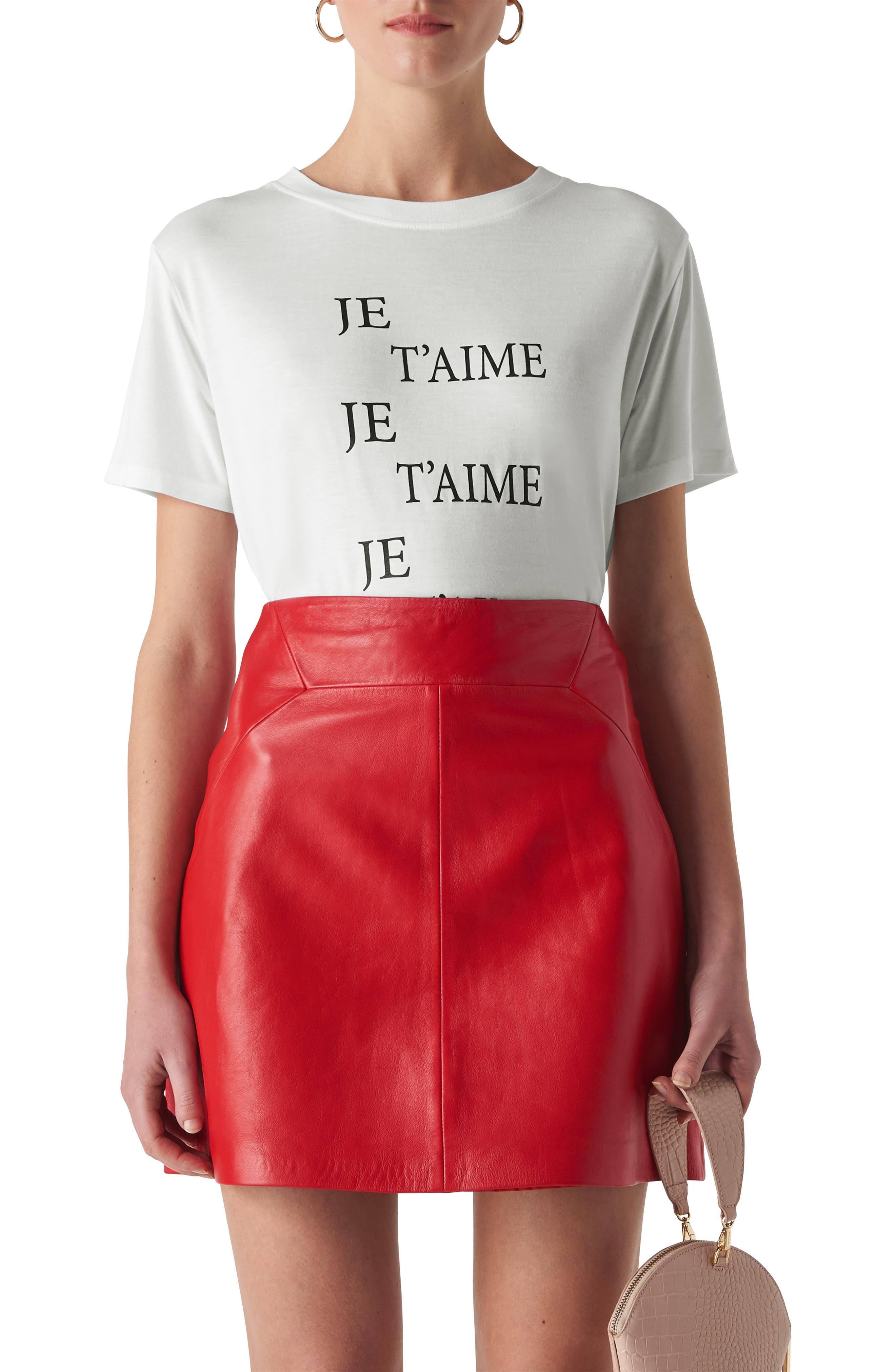 Je T'Aime Logo Shirt in White