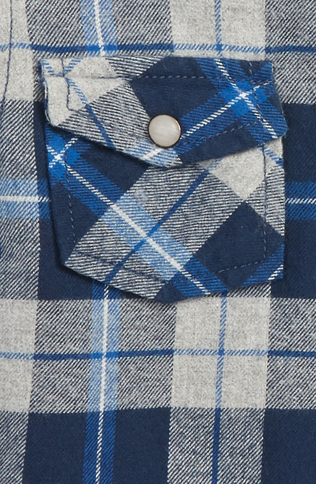 Liam Hooded Flannel Shirt,                             Alternate thumbnail 3, color,                             020
