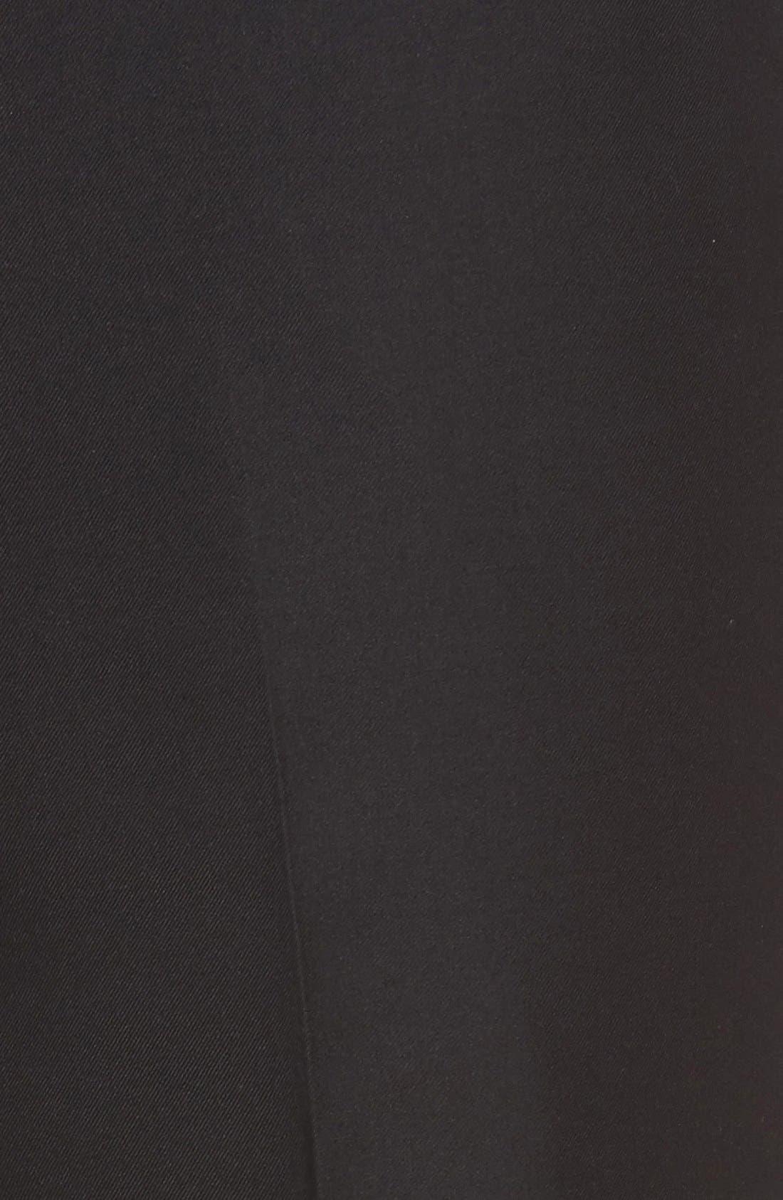 'Travel Genius - Hawk' Flat Front Pants,                             Alternate thumbnail 5, color,                             001