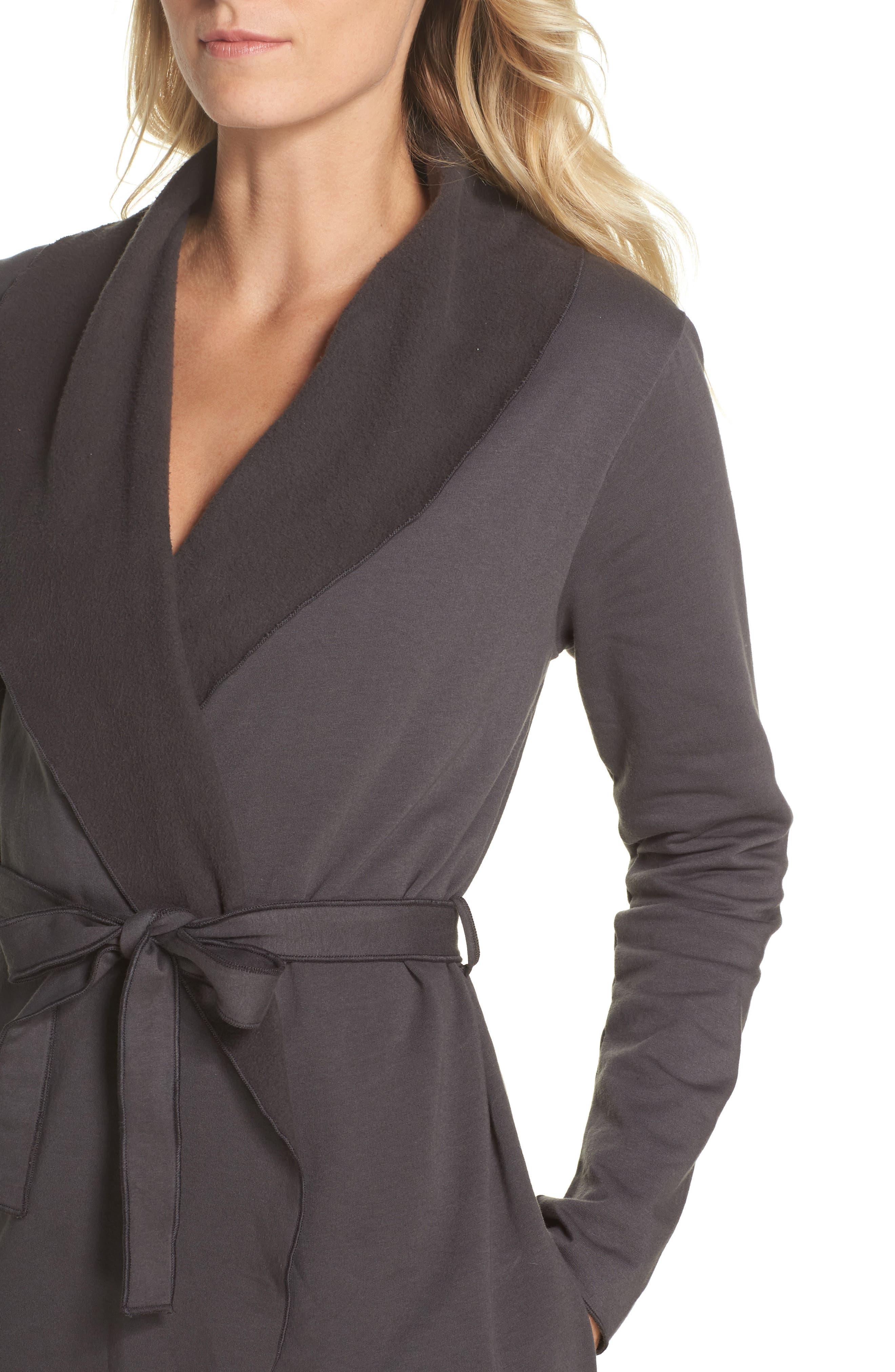Willa Fleece Short Robe,                             Alternate thumbnail 8, color,