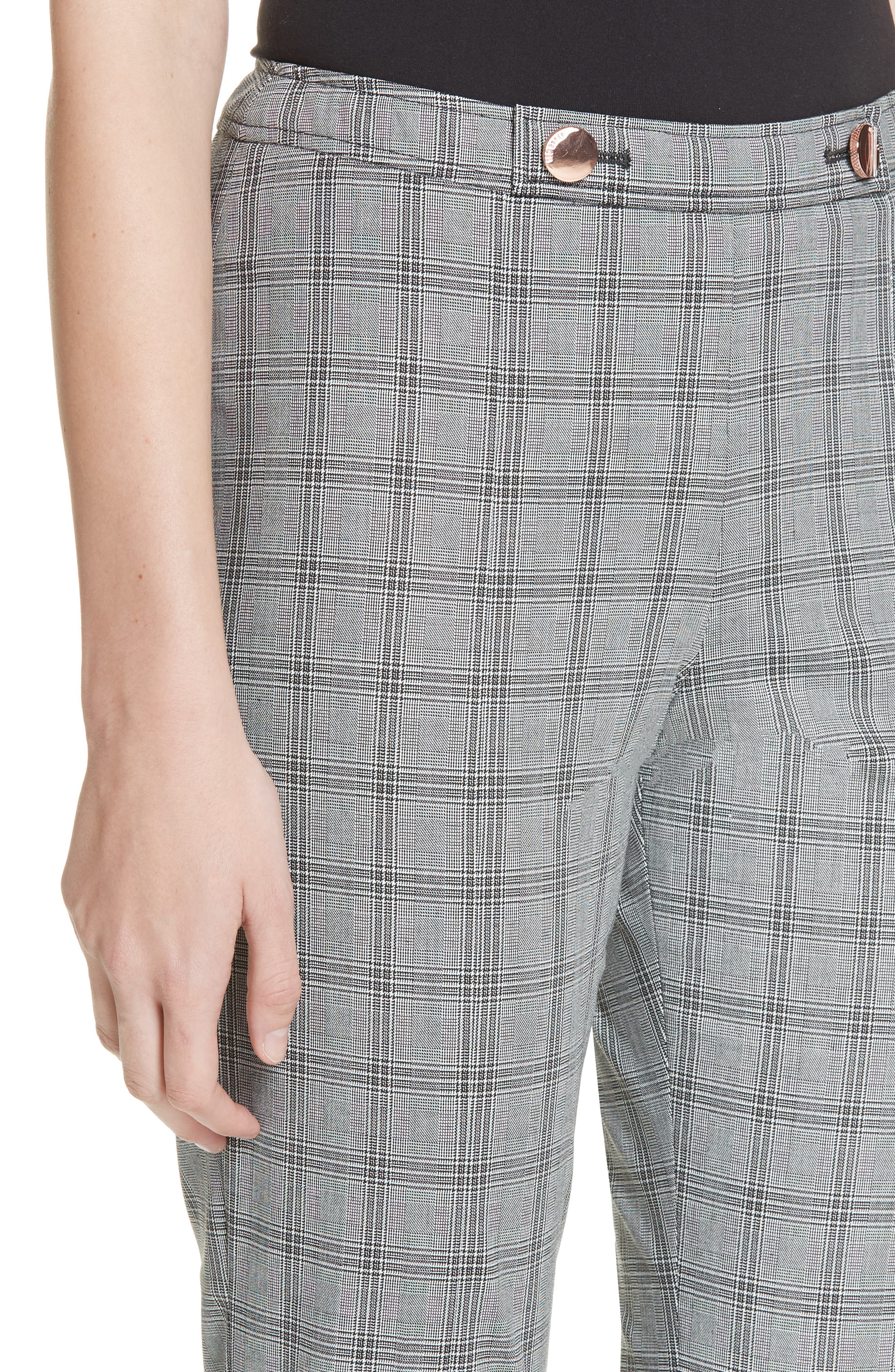 Ted Working Title Ristat Check Plaid Trousers,                             Alternate thumbnail 4, color,                             030