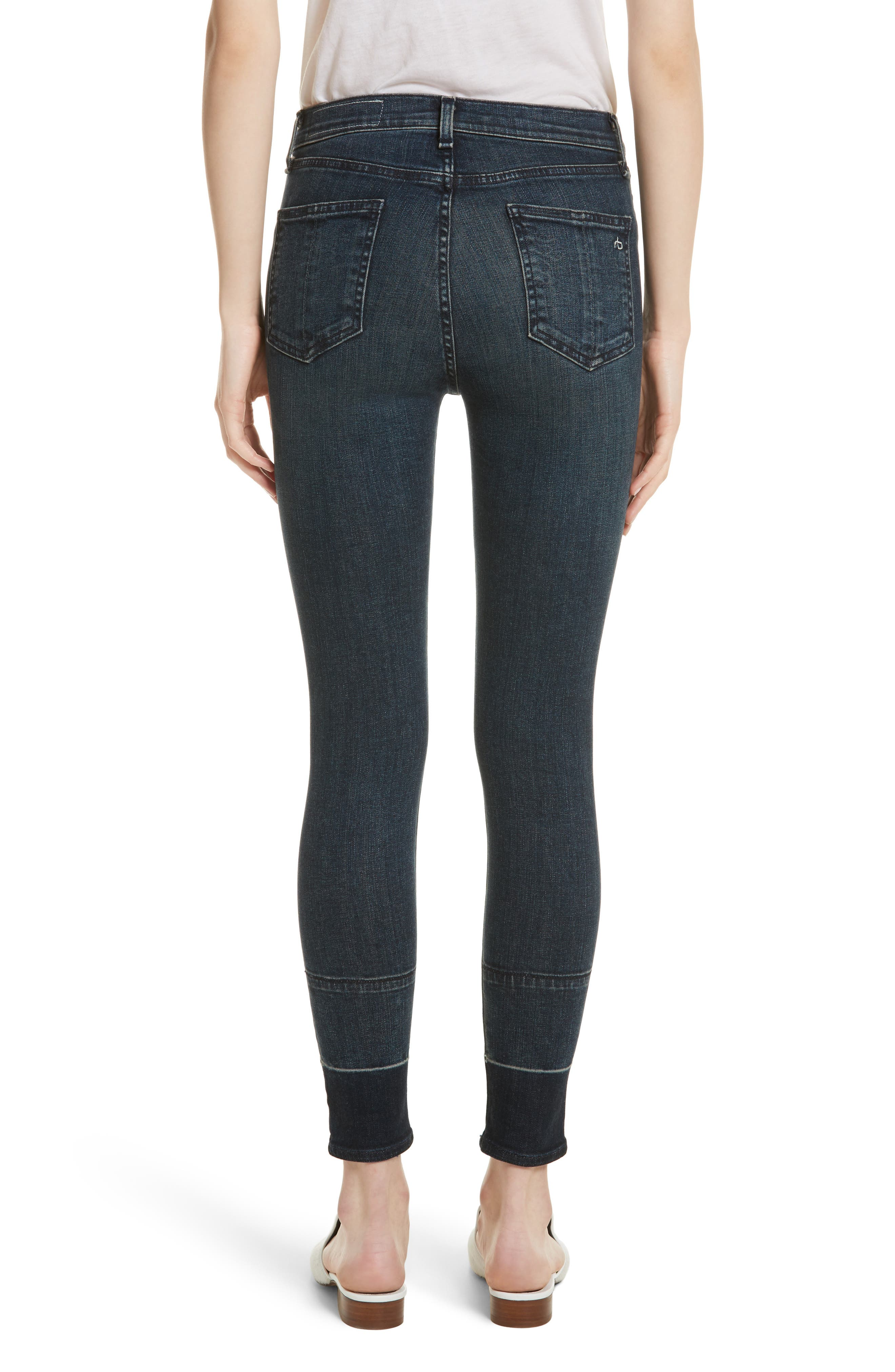 High Waist Ankle Skinny Jeans,                             Alternate thumbnail 2, color,                             401