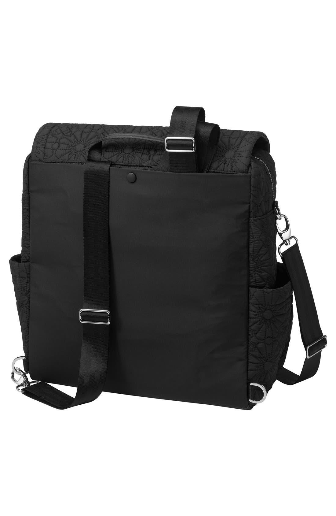 'Embossed Boxy' Backpack Diaper Bag,                             Alternate thumbnail 7, color,                             002