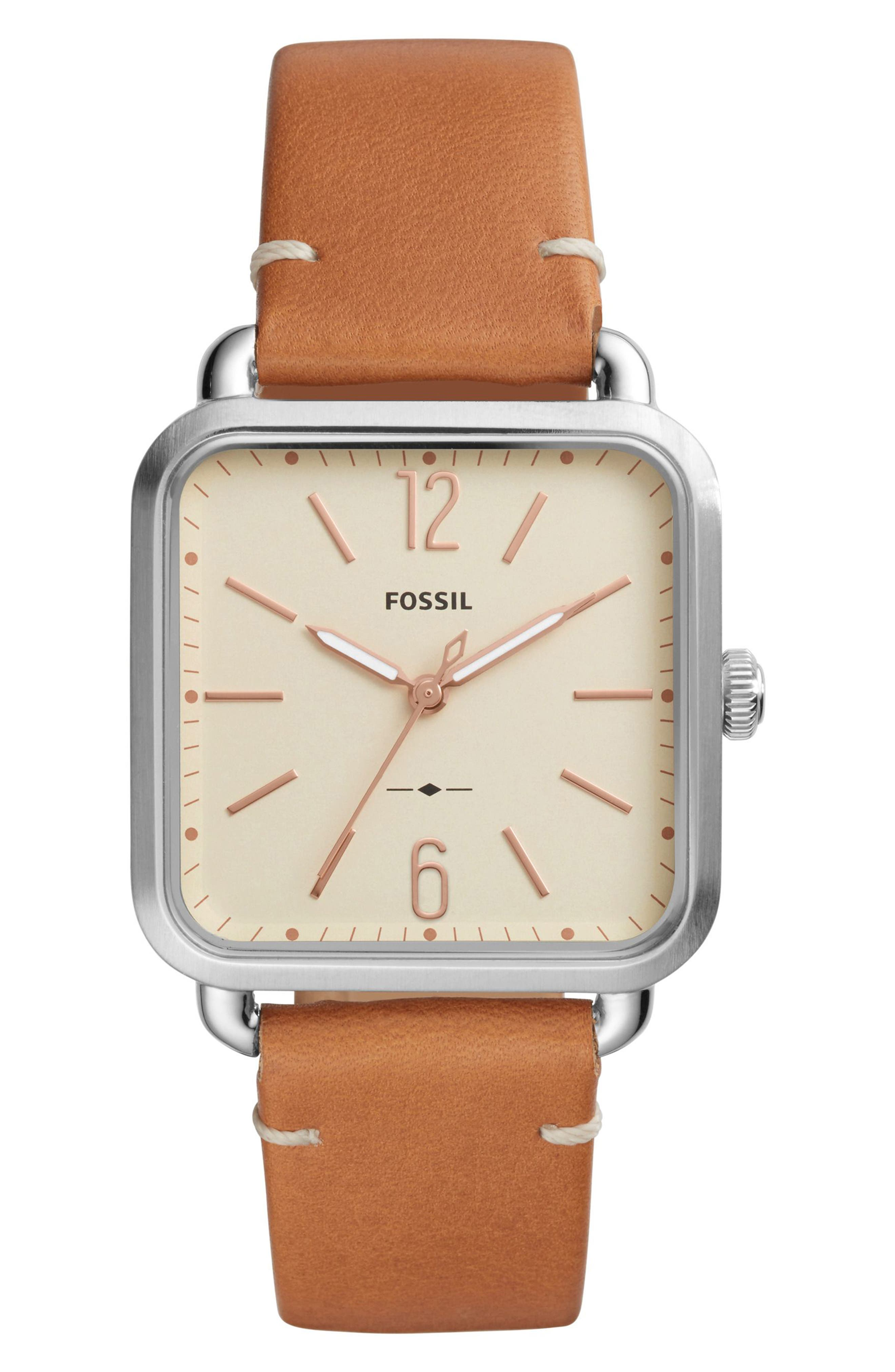 Micah Leather Strap Watch, 32mm x 32mm,                             Main thumbnail 1, color,                             200