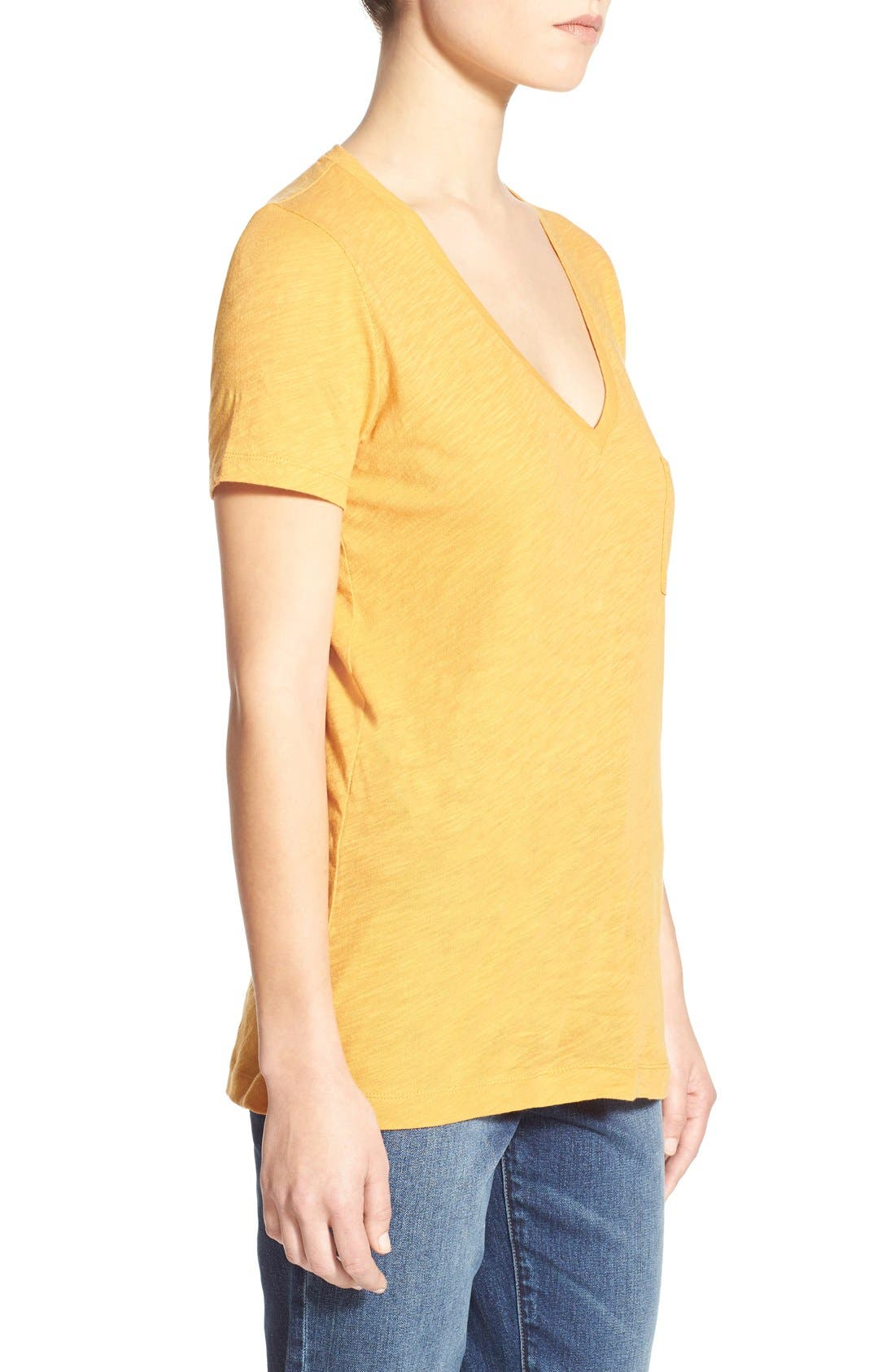 Whisper Cotton V-Neck Pocket Tee,                             Alternate thumbnail 82, color,