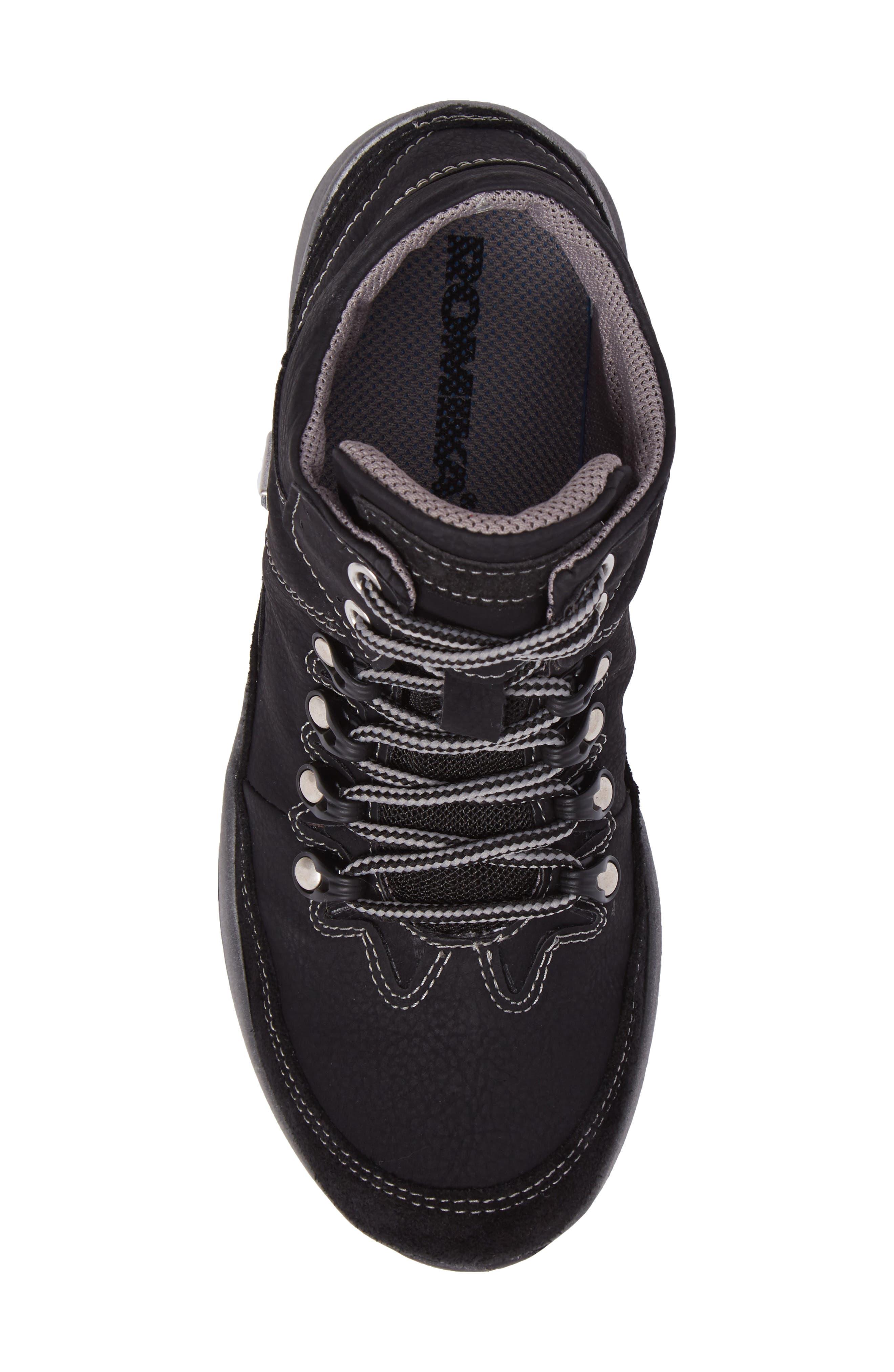 Victoria 05 Waterproof Sneaker,                             Alternate thumbnail 5, color,                             BLACK/ KOMBI LEATHER
