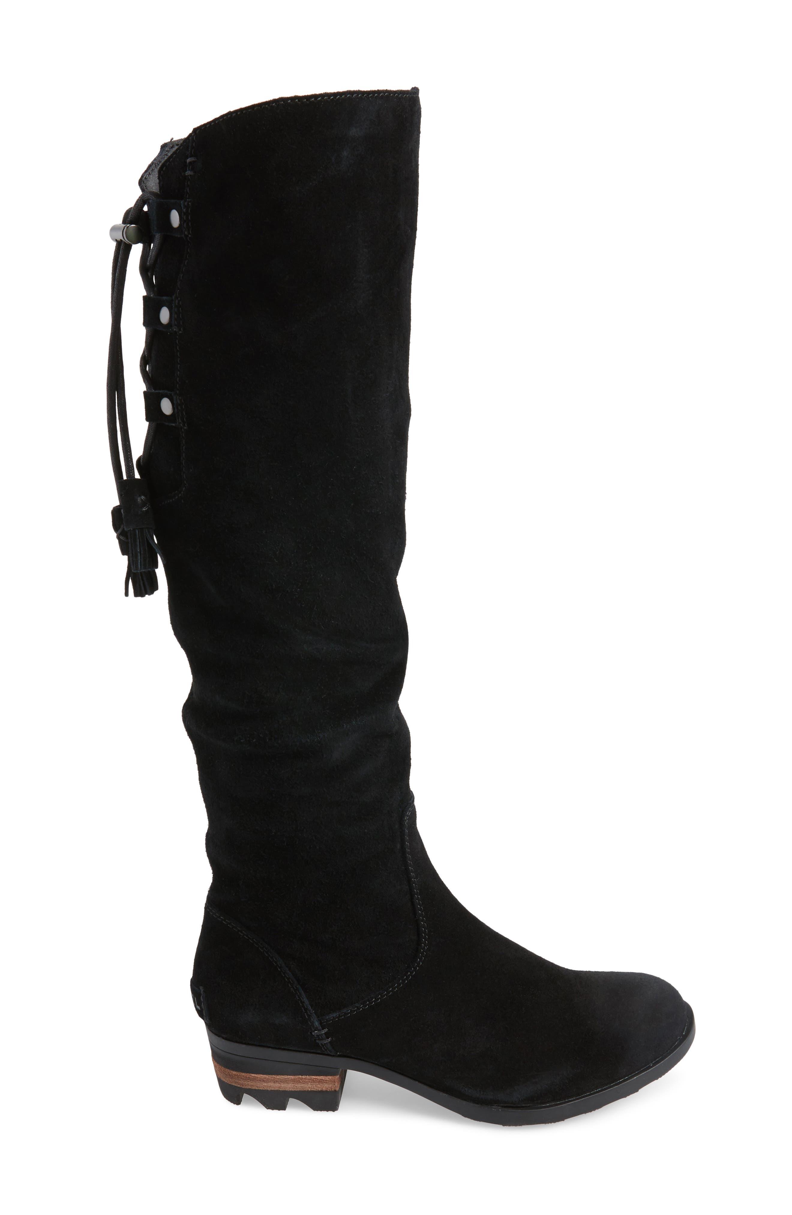 Farah Tall Waterproof Boot,                             Alternate thumbnail 3, color,                             010