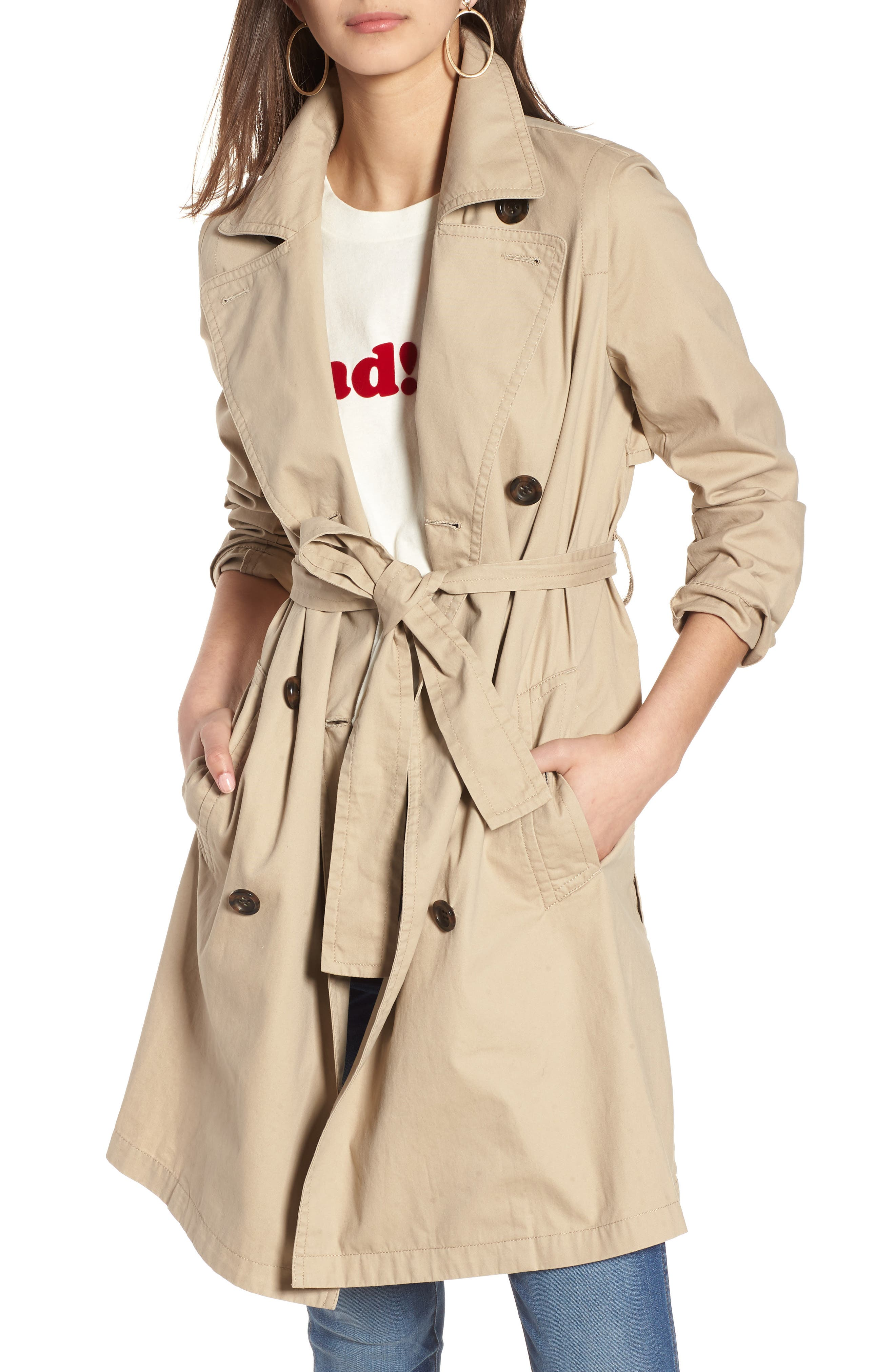 MADEWELL,                             Abroad Trench Coat,                             Main thumbnail 1, color,                             250