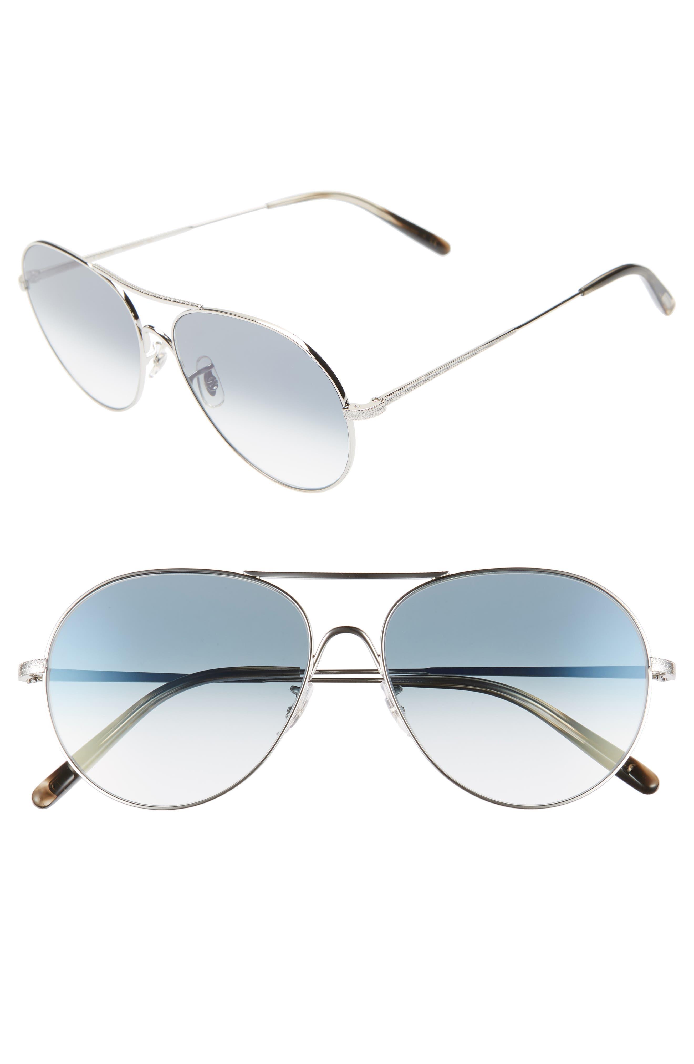 Rockmore 58Mm Photochromic Aviator Sunglasses - Chrome Sapphire