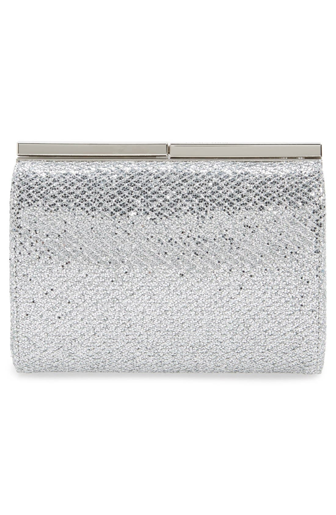 'Cate' Glitter Box Clutch,                             Alternate thumbnail 3, color,                             040