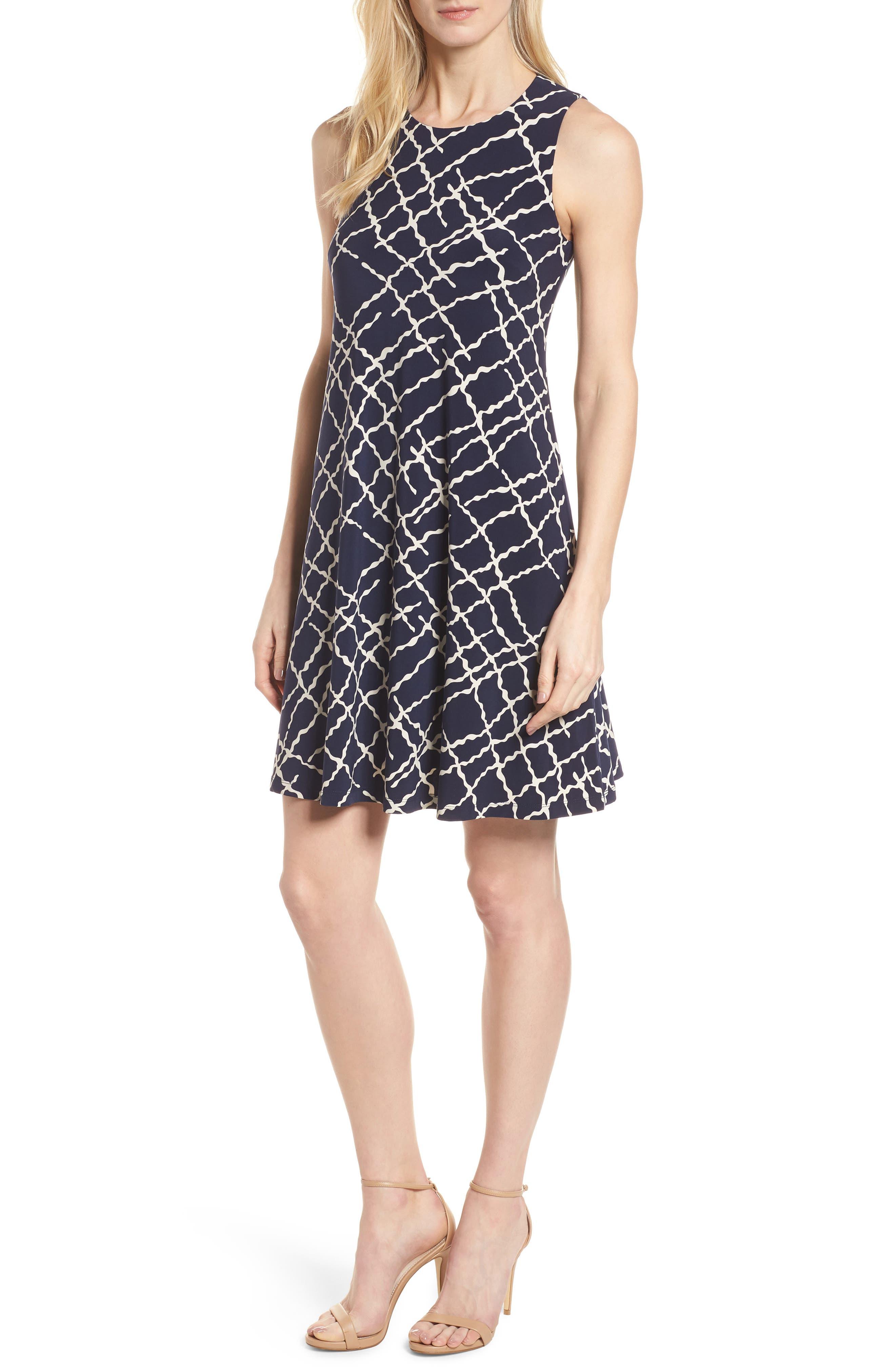 Print Swing Dress,                         Main,                         color, 400