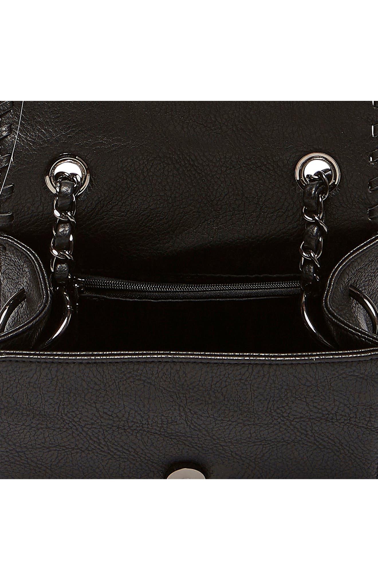 Loveliness Vegan Leather Shoulder Bag,                             Alternate thumbnail 2, color,                             001