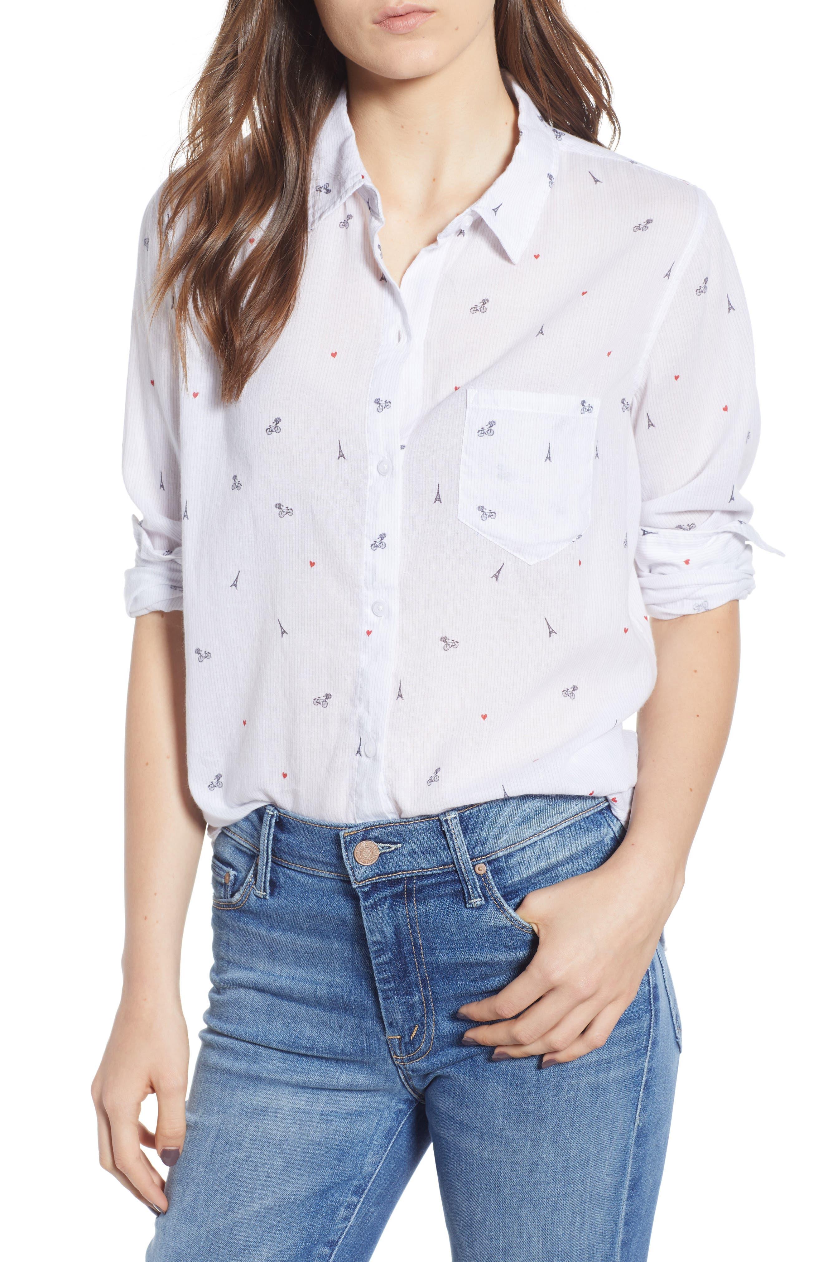 Taylor Star Stripe Shirt,                             Main thumbnail 1, color,                             LITTLE PARIS
