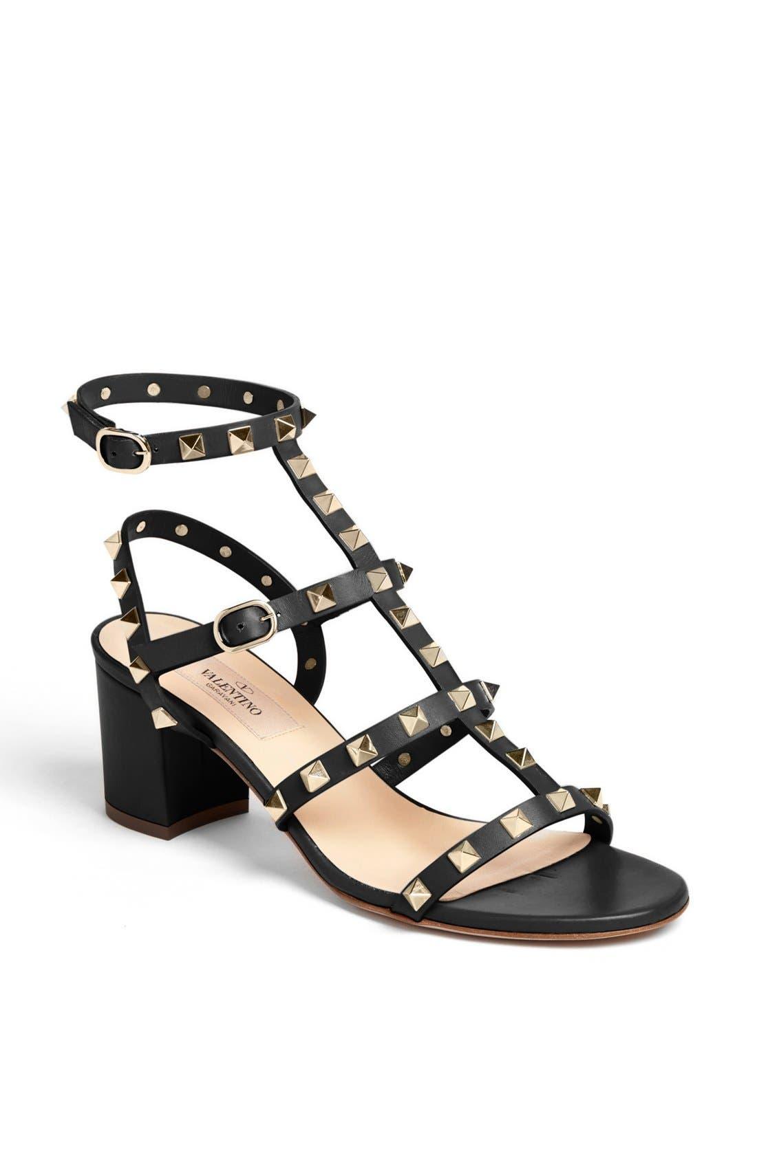'Rockstud' Sandal,                         Main,                         color, 001