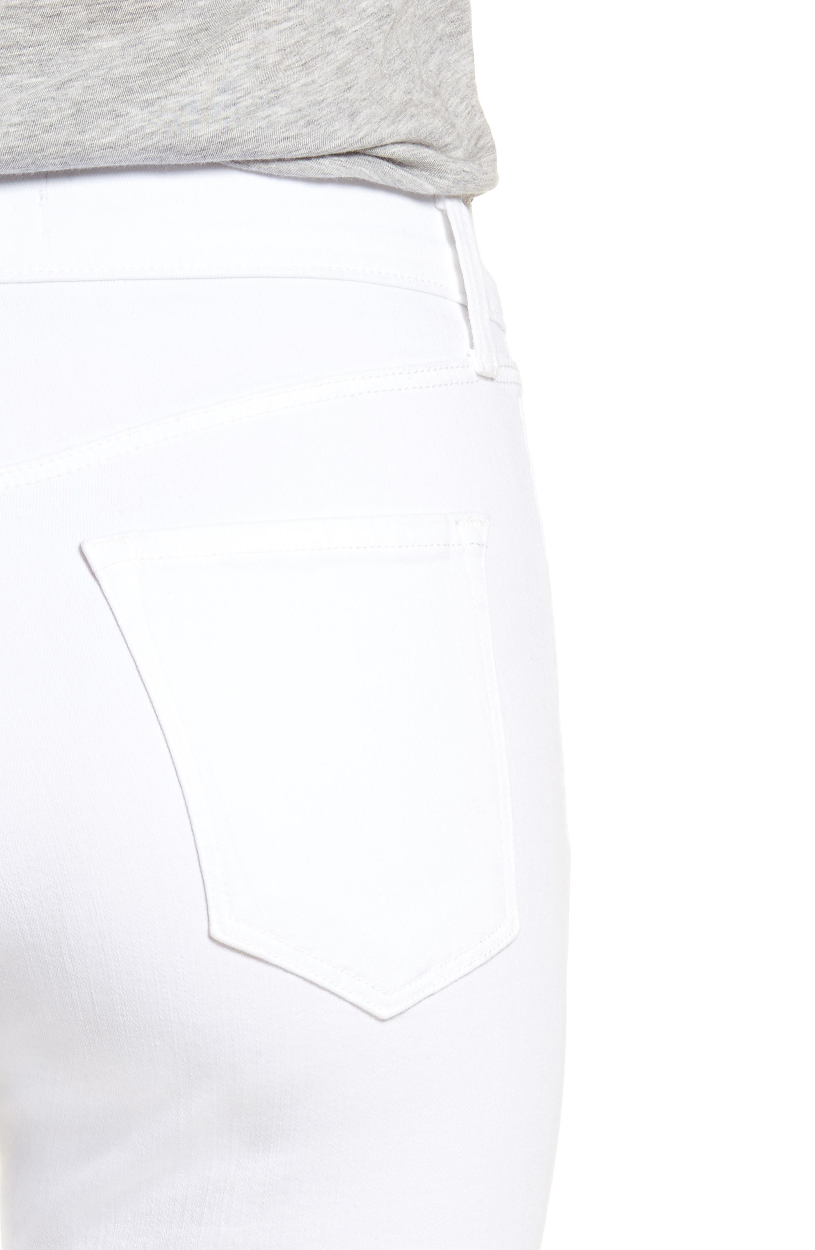 Maria High Waist Skinny Jeans,                             Alternate thumbnail 4, color,                             WHITE