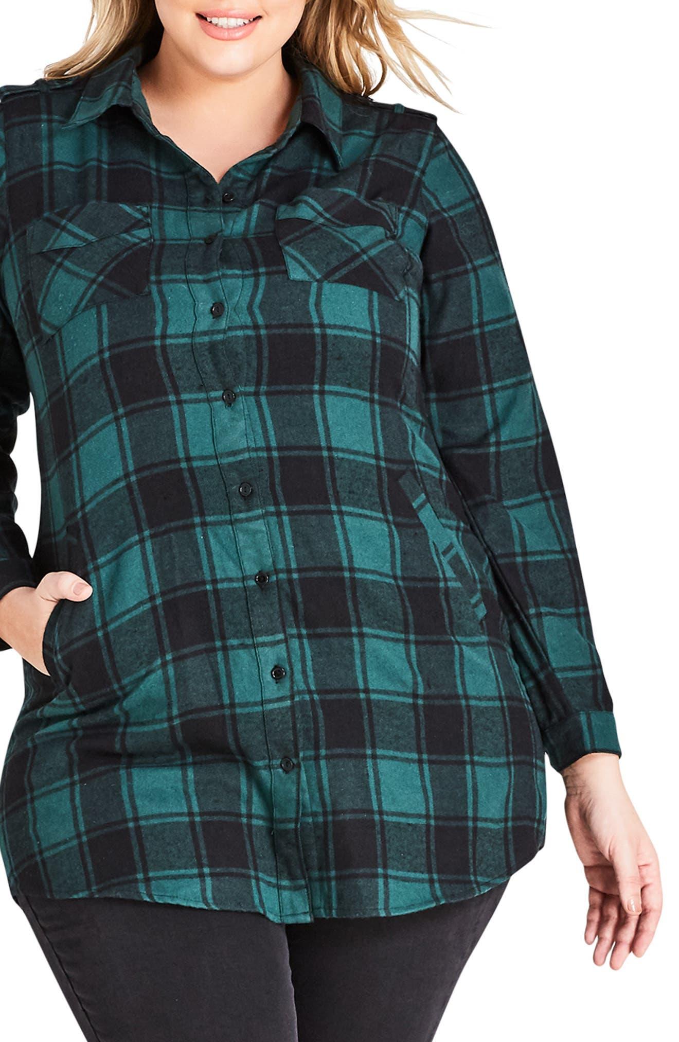 Check Lover Tunic,                         Main,                         color, KHAKI CHECK