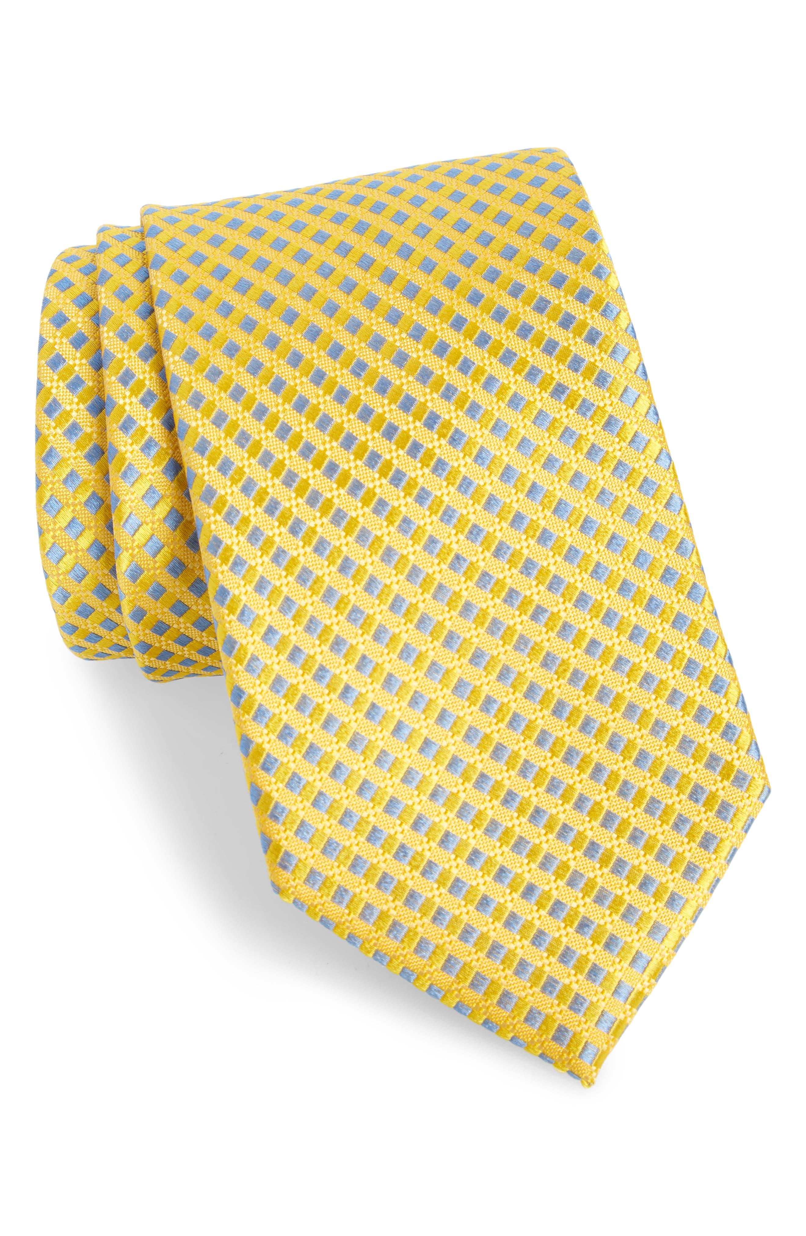 Nathan Check Silk Tie,                             Main thumbnail 3, color,
