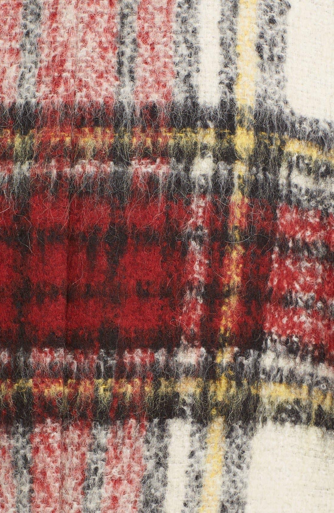 BURBERRY PRORSUM,                             Tartan Plaid Wool Blend Coat,                             Alternate thumbnail 5, color,                             930